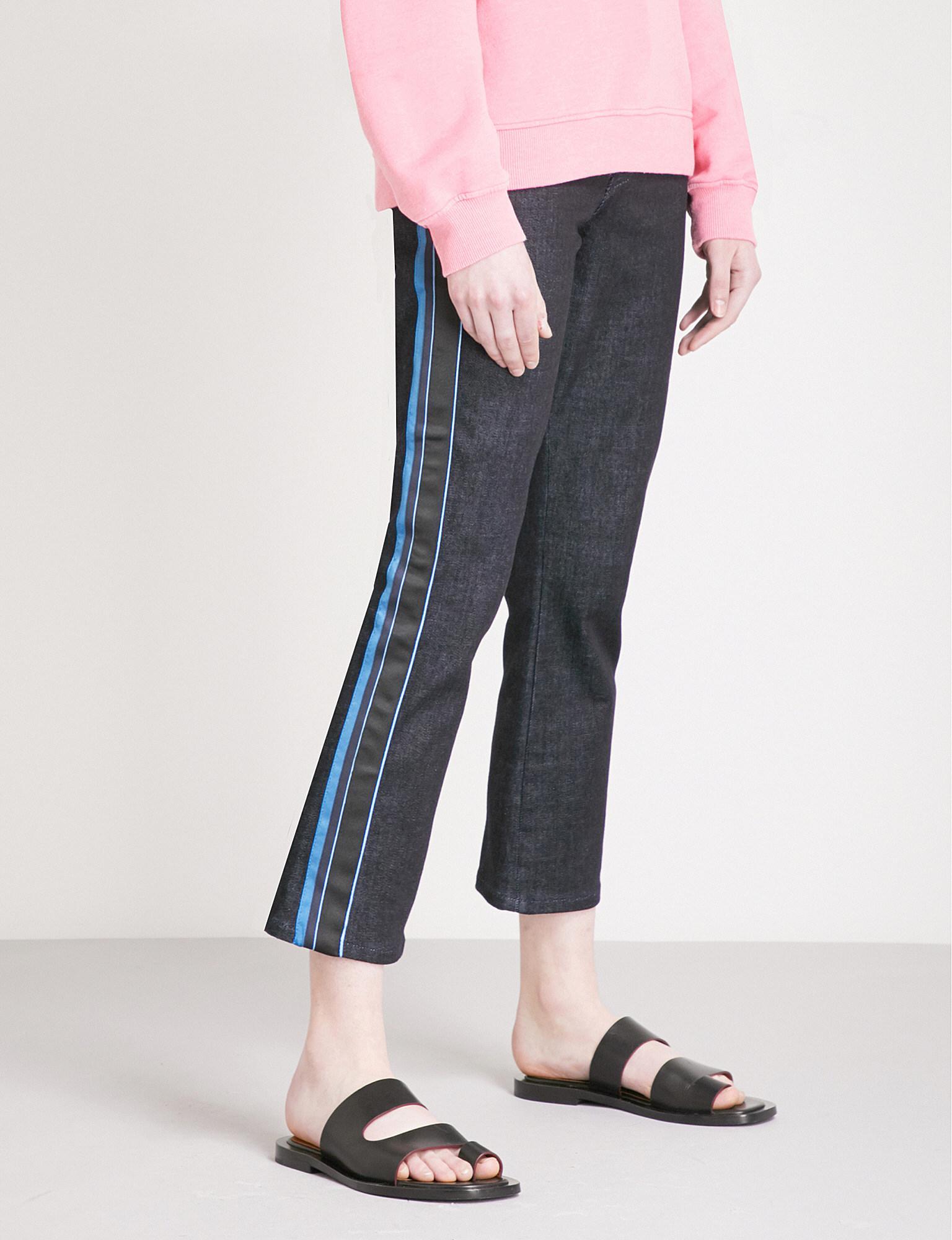 Victoria, Victoria Beckham Woman High-rise Flared Jeans Black Size 24 Victoria Beckham