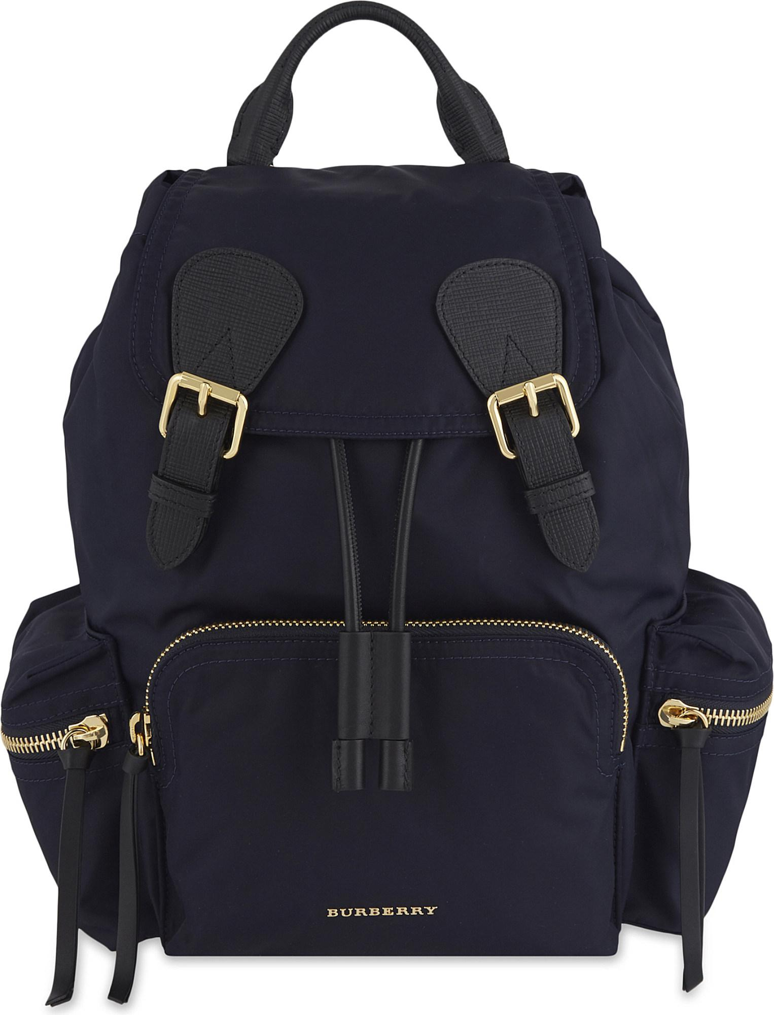 Burberry - Blue Medium Nylon Backpack - Lyst. View fullscreen 26a13057646a5