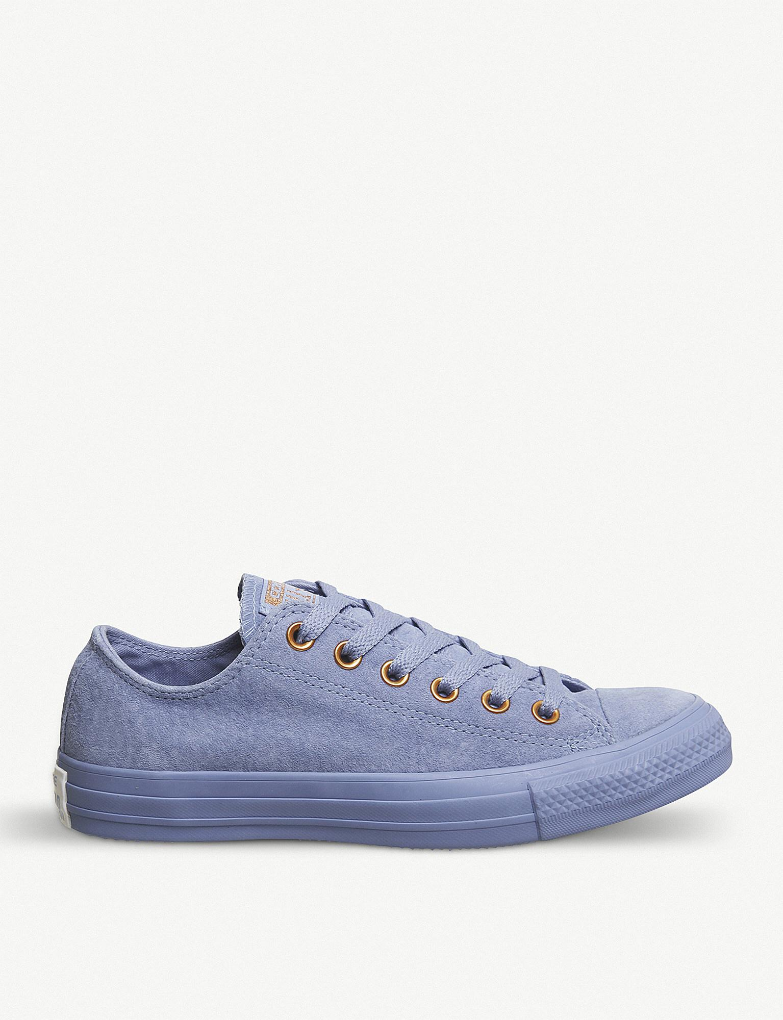 e890c9c9a615 Lyst - Converse All Star Low-top Leather Trainers in Blue for Men