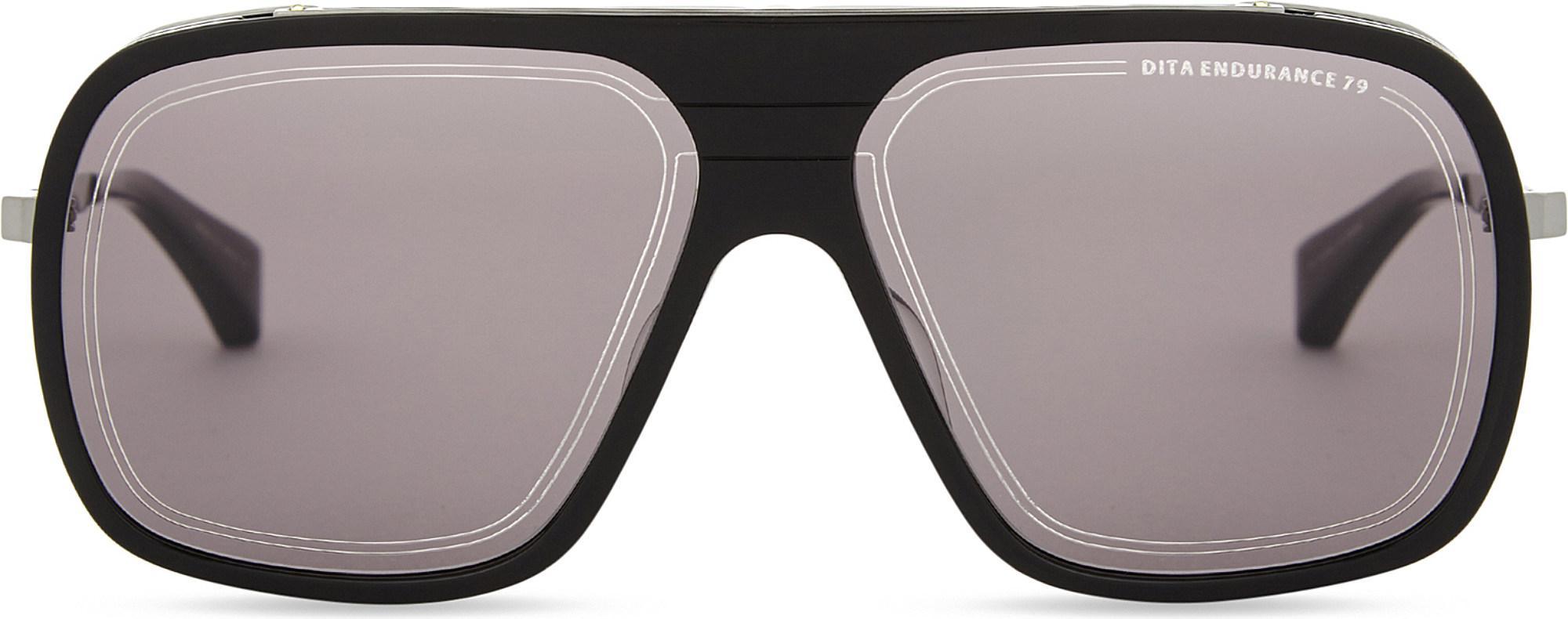 31c3e0ab1f1 DITA Endurance 79 Square-frame Sunglasses in Black - Lyst