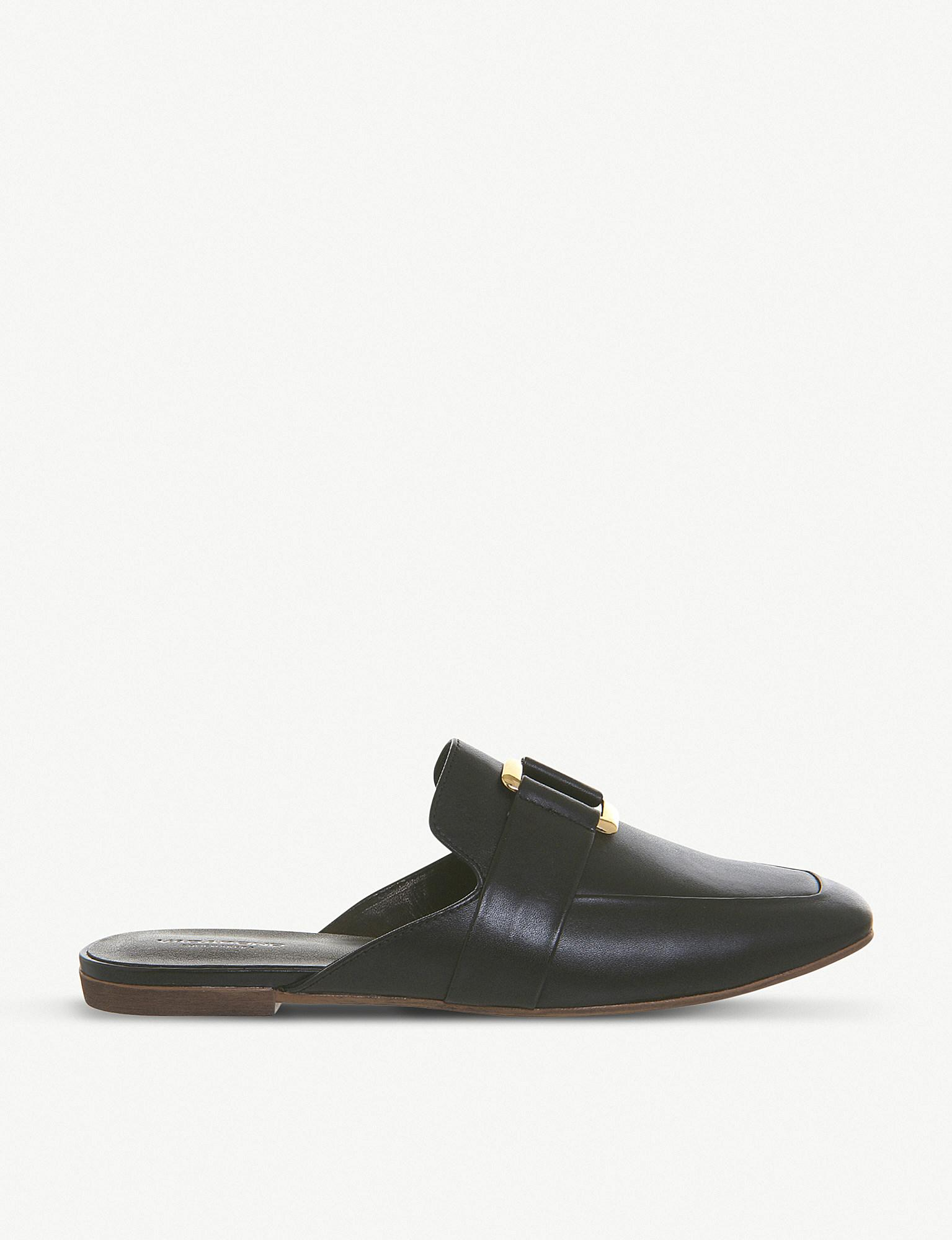 141f8ccfa2a Vagabond Ayden Leather Backless Loafers in Black - Lyst