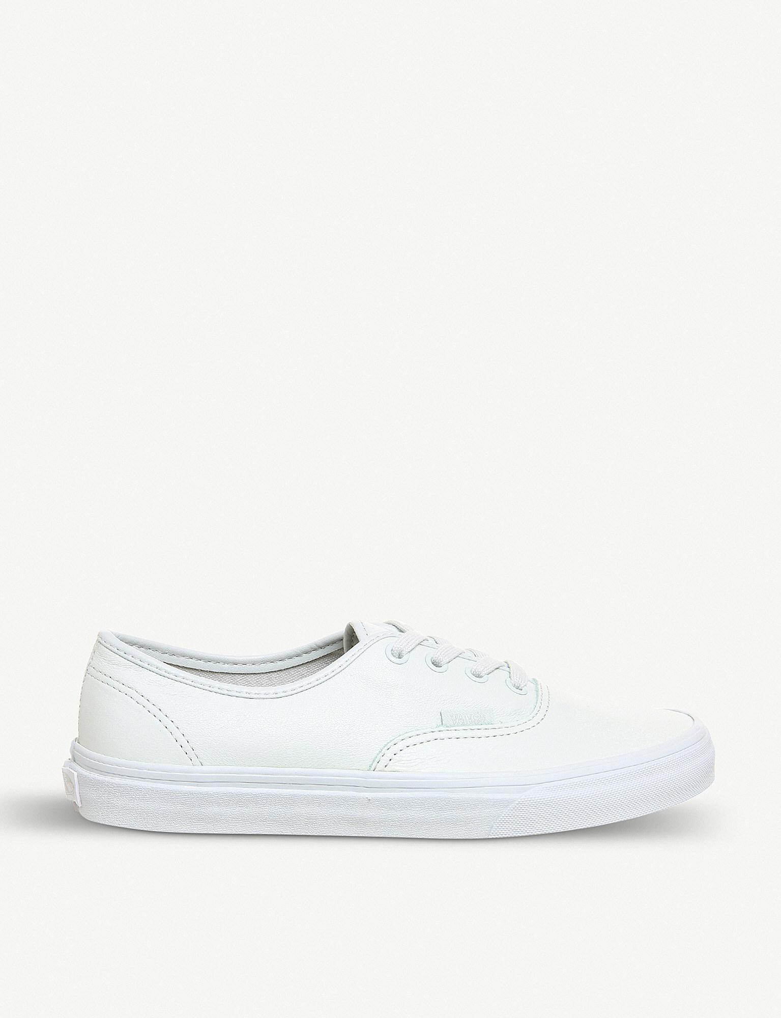 b93b72f0cab3 Lyst - Vans Era Leather Trainers in White for Men