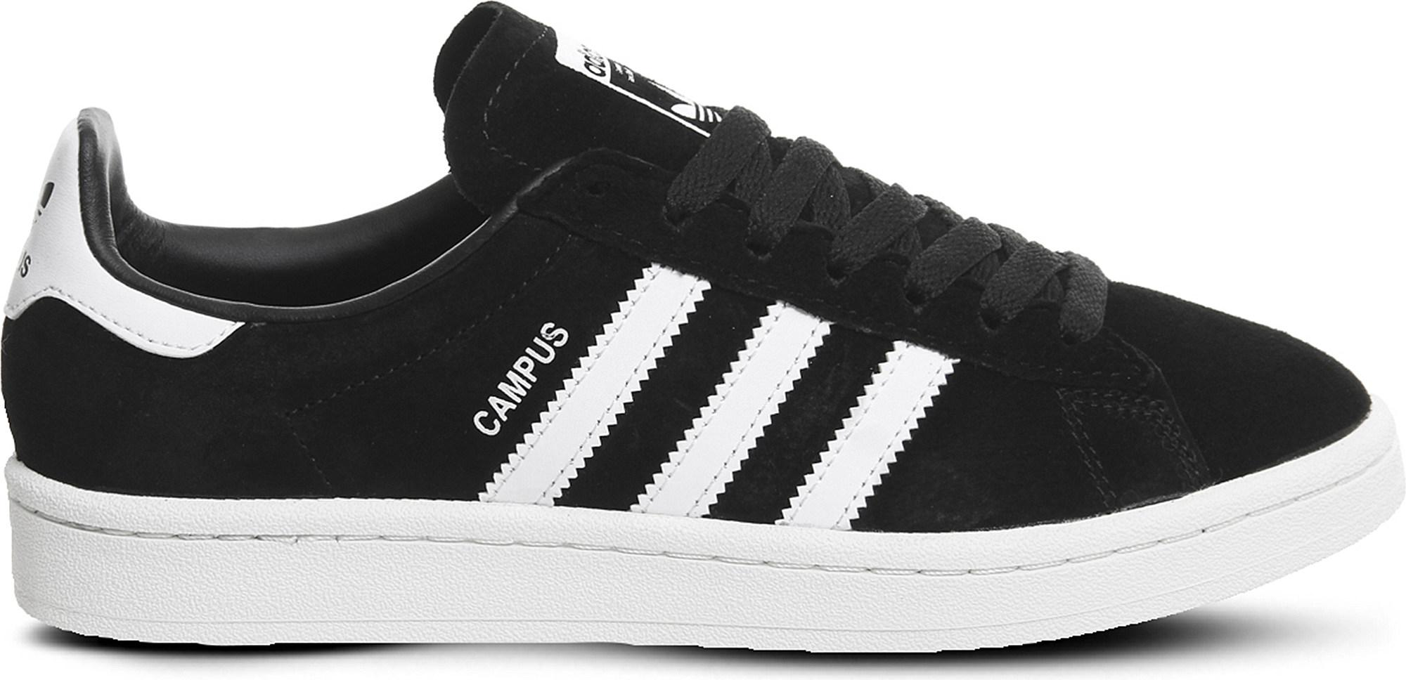 b949572ef56e50 adidas Campus Suede Trainers in Black for Men - Lyst