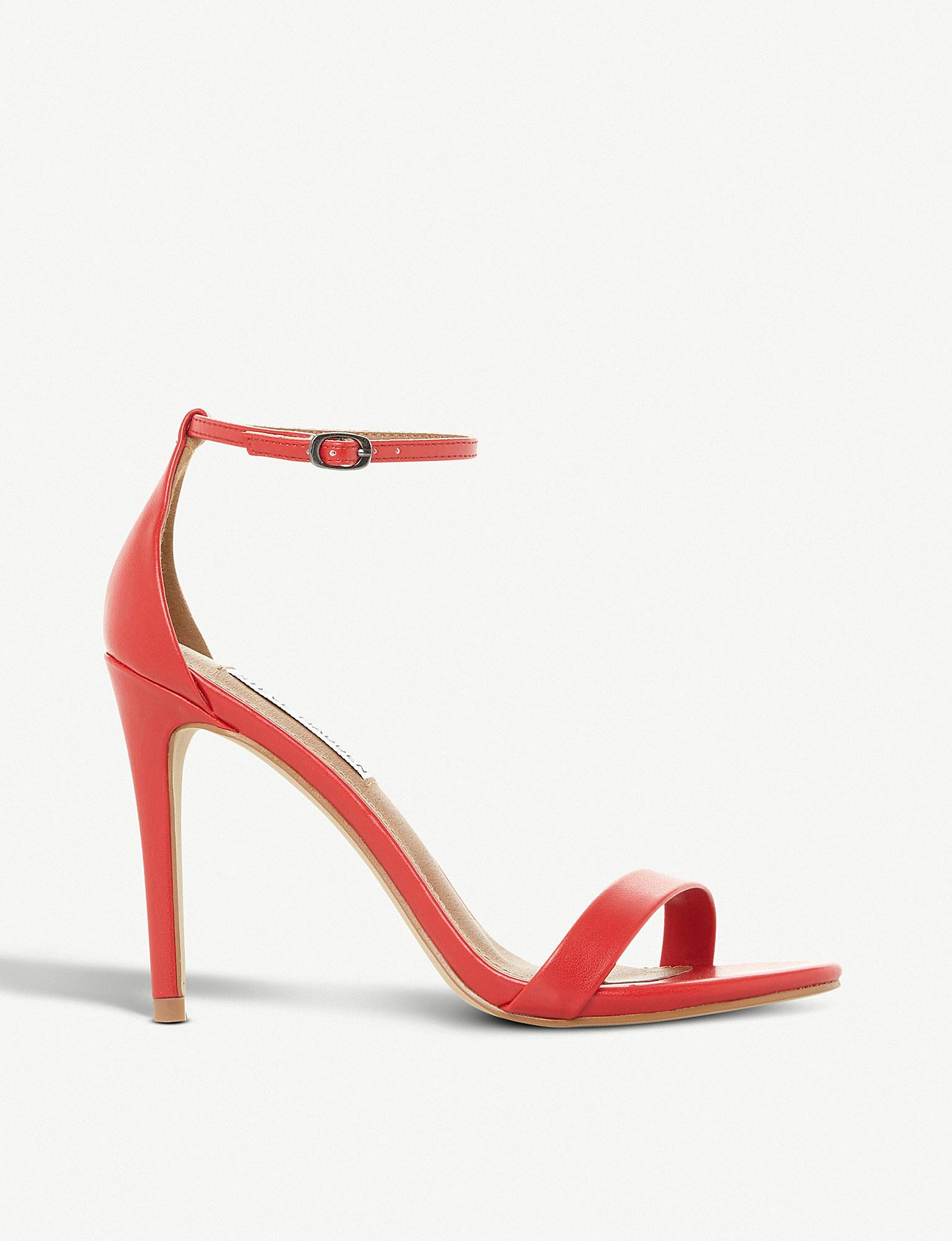 5a532d2e2ac Lyst - Steve Madden Stecy Sm Faux-leather Heeled Sandals in Red