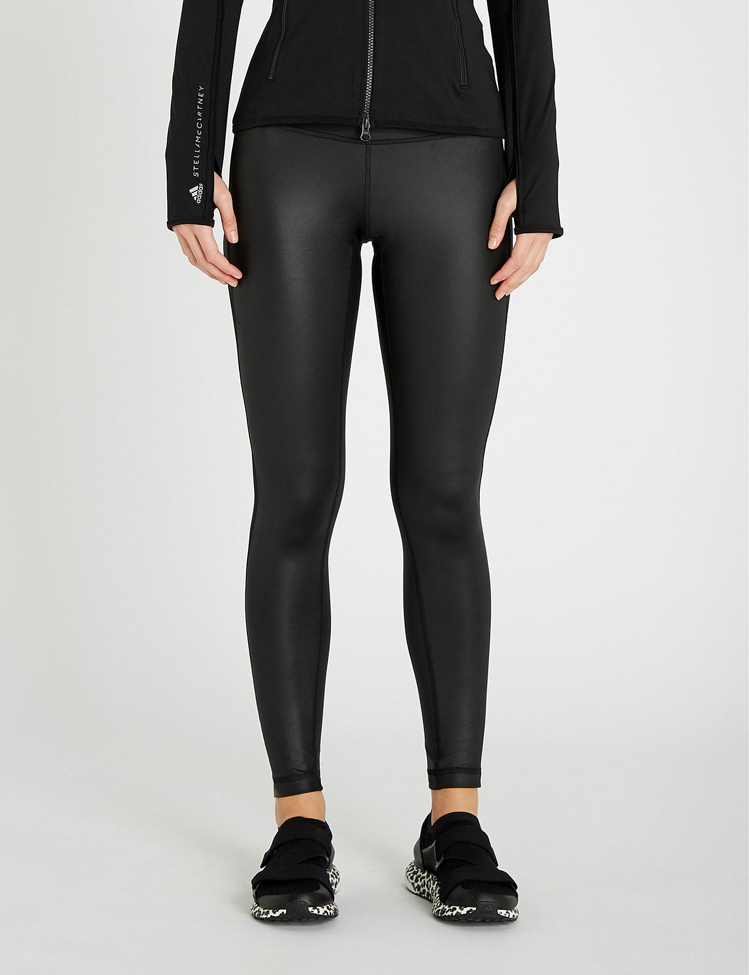 c7f1dac007675 adidas Originals. Women's Black Believe This Mesh-panel Stretch-jersey  leggings