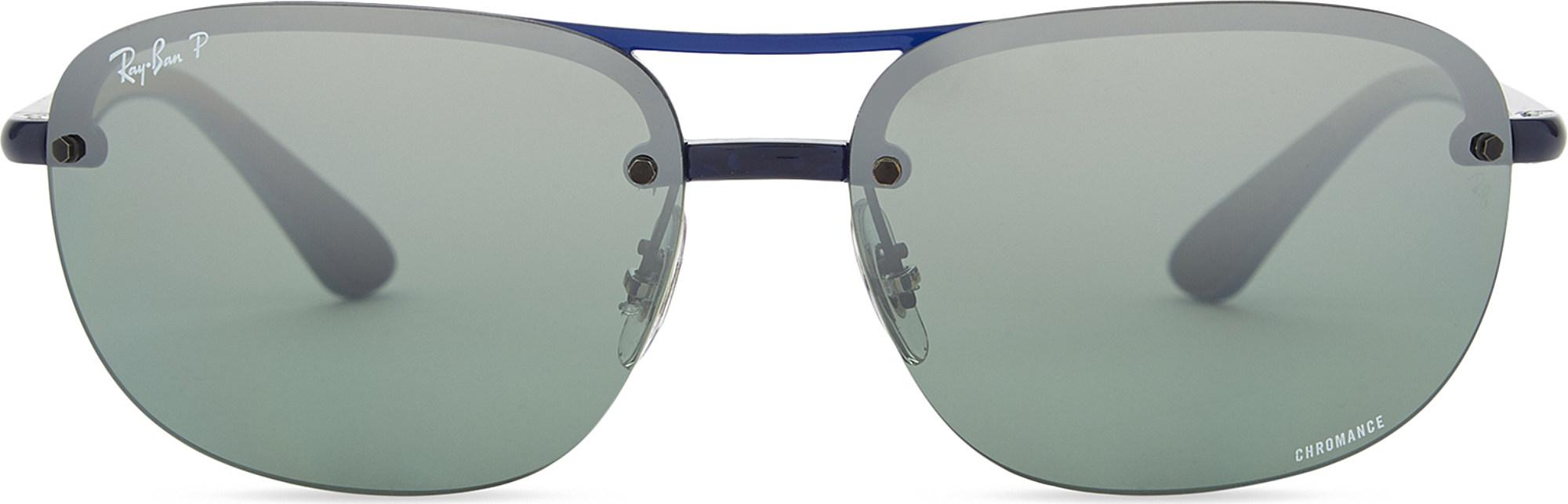 0554ccbbce Lyst - Ray-Ban Rb4275ch Chromance® Square-frame Sunglasses in Blue ...