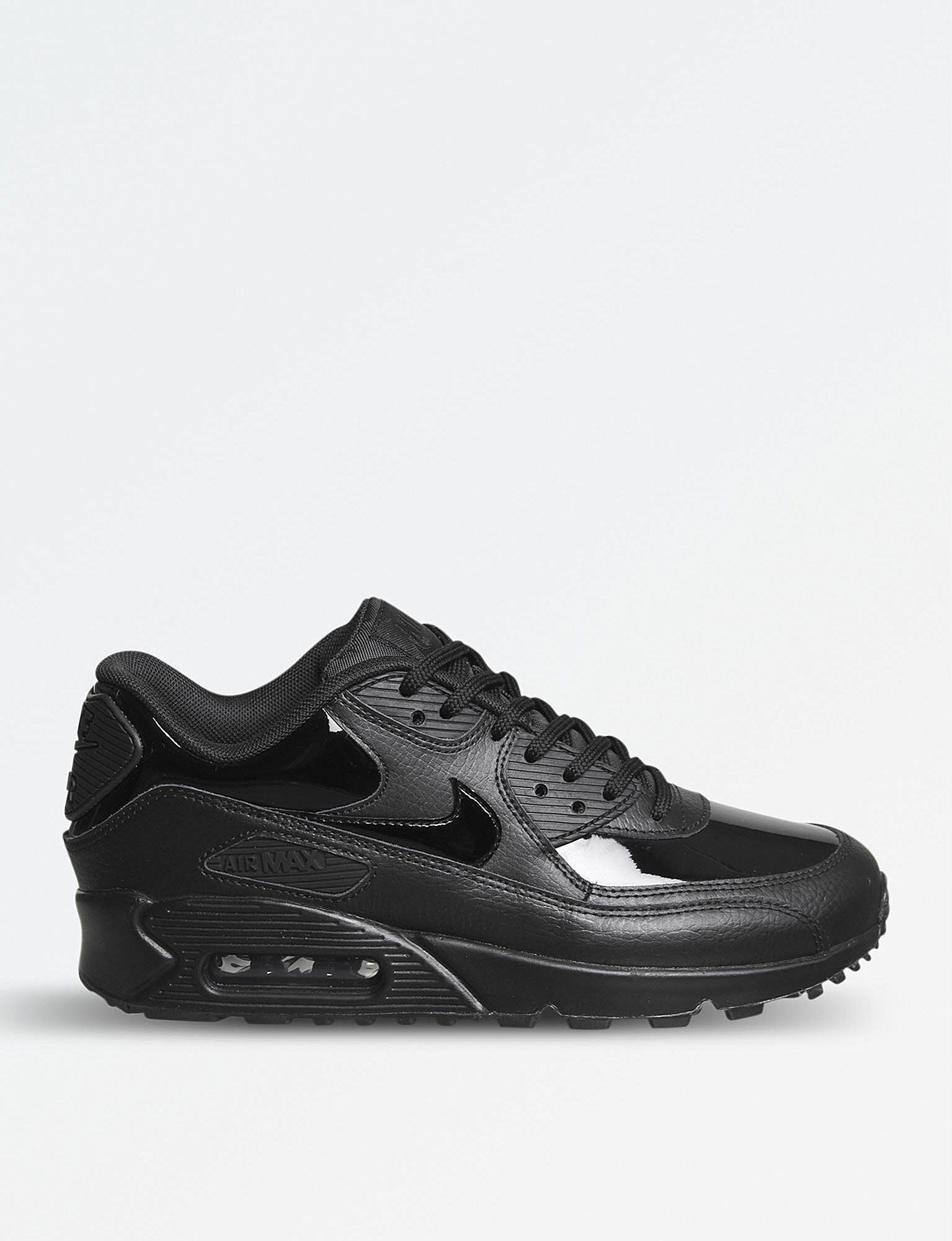 promo code a1017 29812 Lyst - Nike Air Max 90 Patent Leather Trainers in Black for Men nike air max