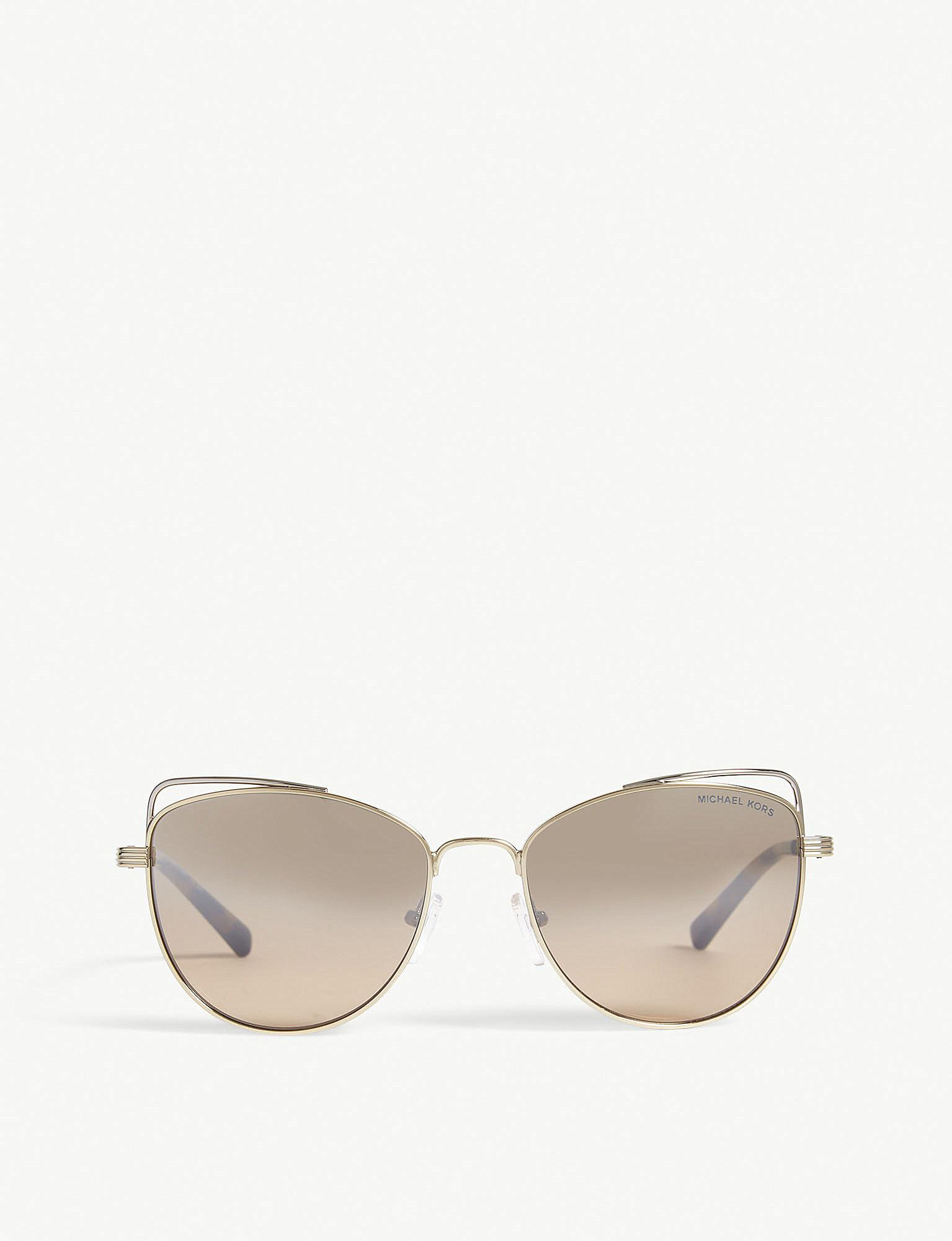 fa70af3f47b Michael Kors - Metallic Light Gold St. Lucia Cat s Eye Sunglasses Mk1035 -  Lyst. View fullscreen