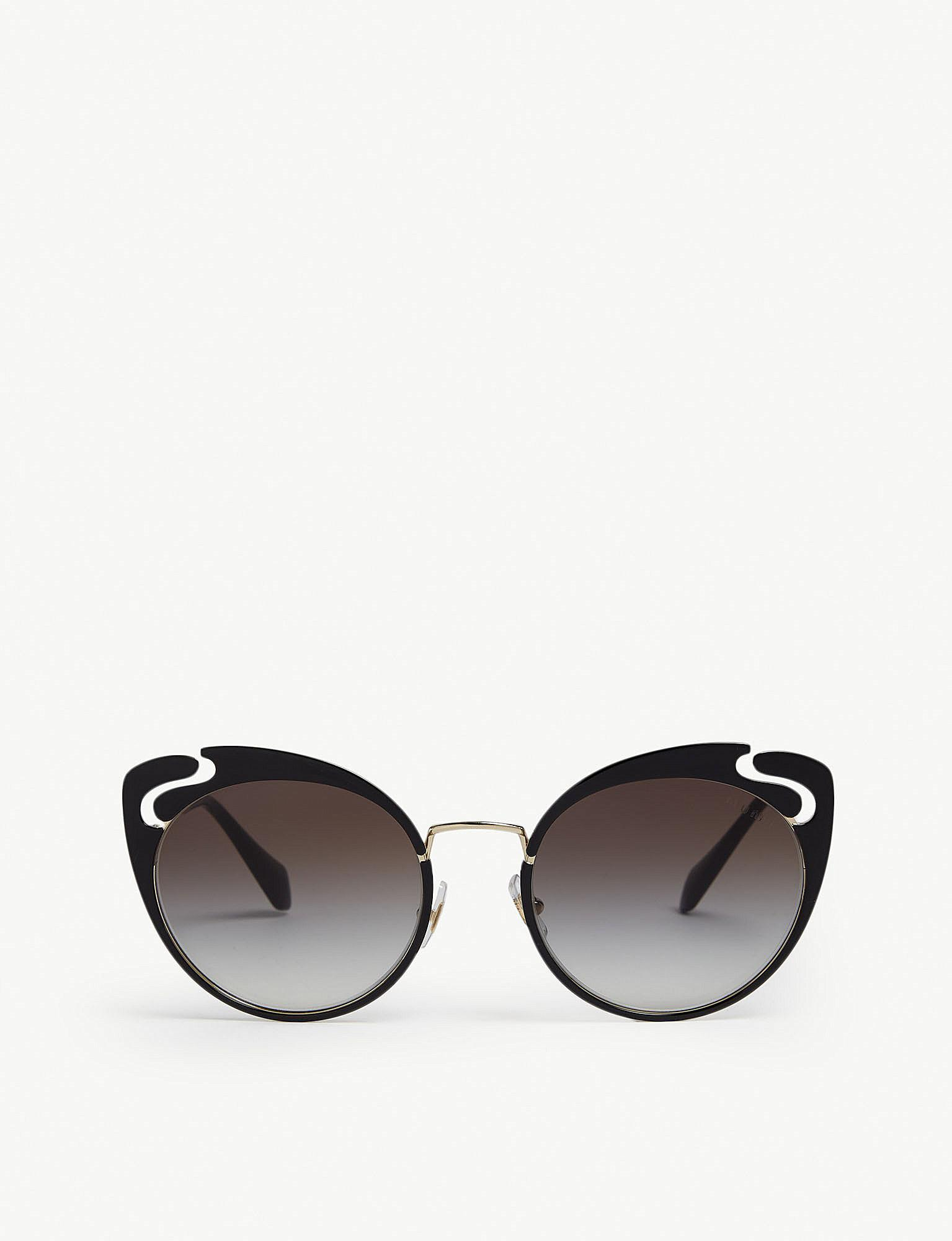 ae70c461f9 Lyst - Miu Miu 0mu 57ts Butterfly Sunglasses in Black