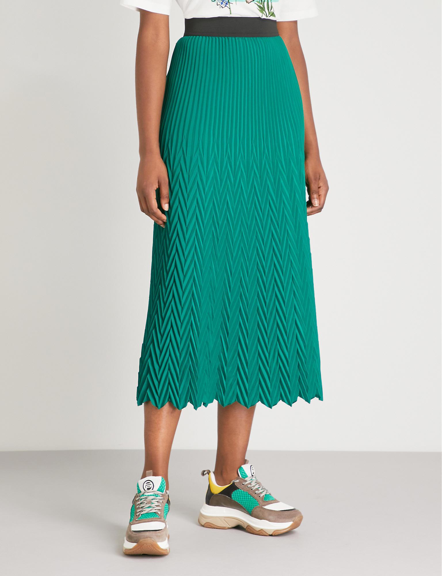 153ce5eb3a Maje Herringbone Pleated Maxi Skirt in Green - Lyst