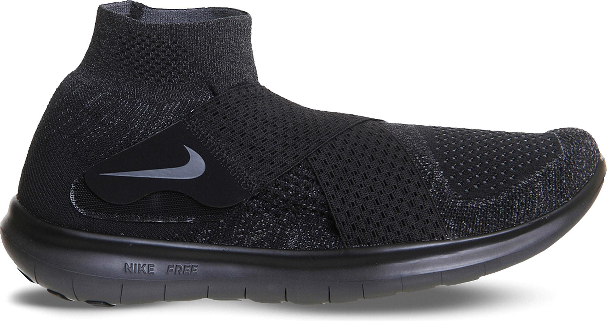 218bc9890938 ... closeout lyst nike free run motion flyknit trainers in black for men  9a610 d4112