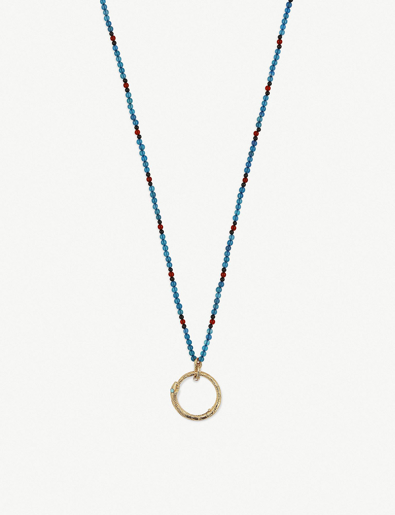 4d42011c6 Lyst - Gucci Ouroboros 18ct Yellow-gold in Metallic