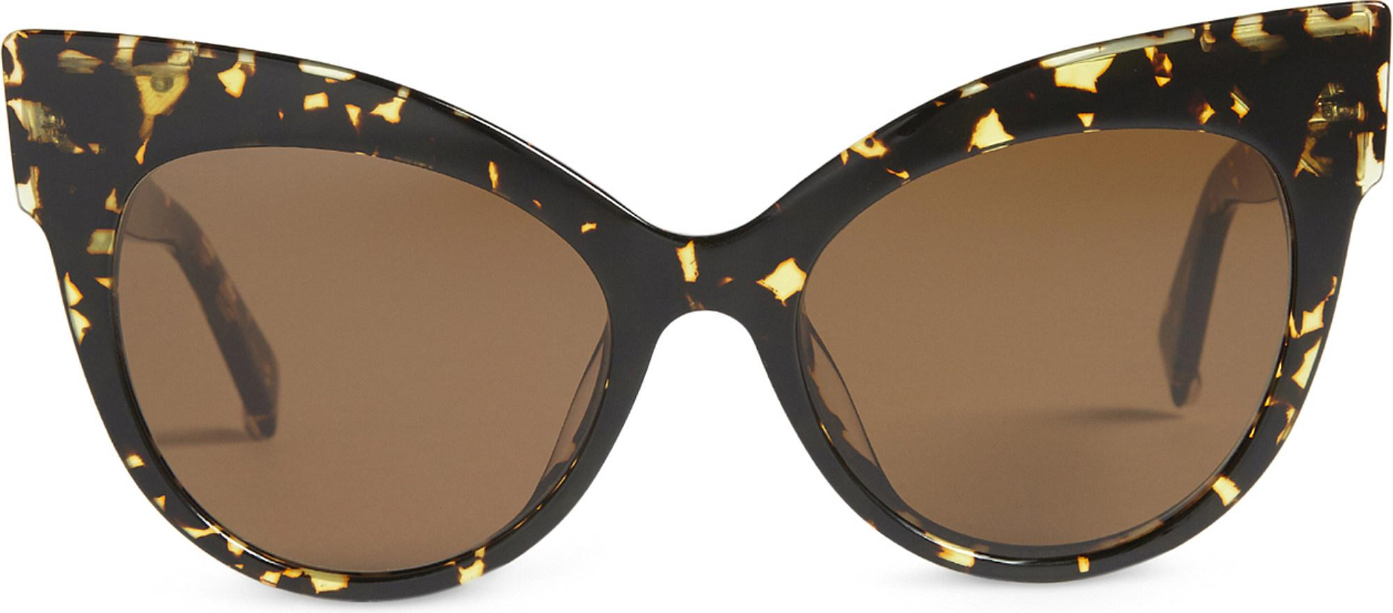c77002a97b3d Max Mara Anita Cat-eye Sunglasses in Brown - Lyst