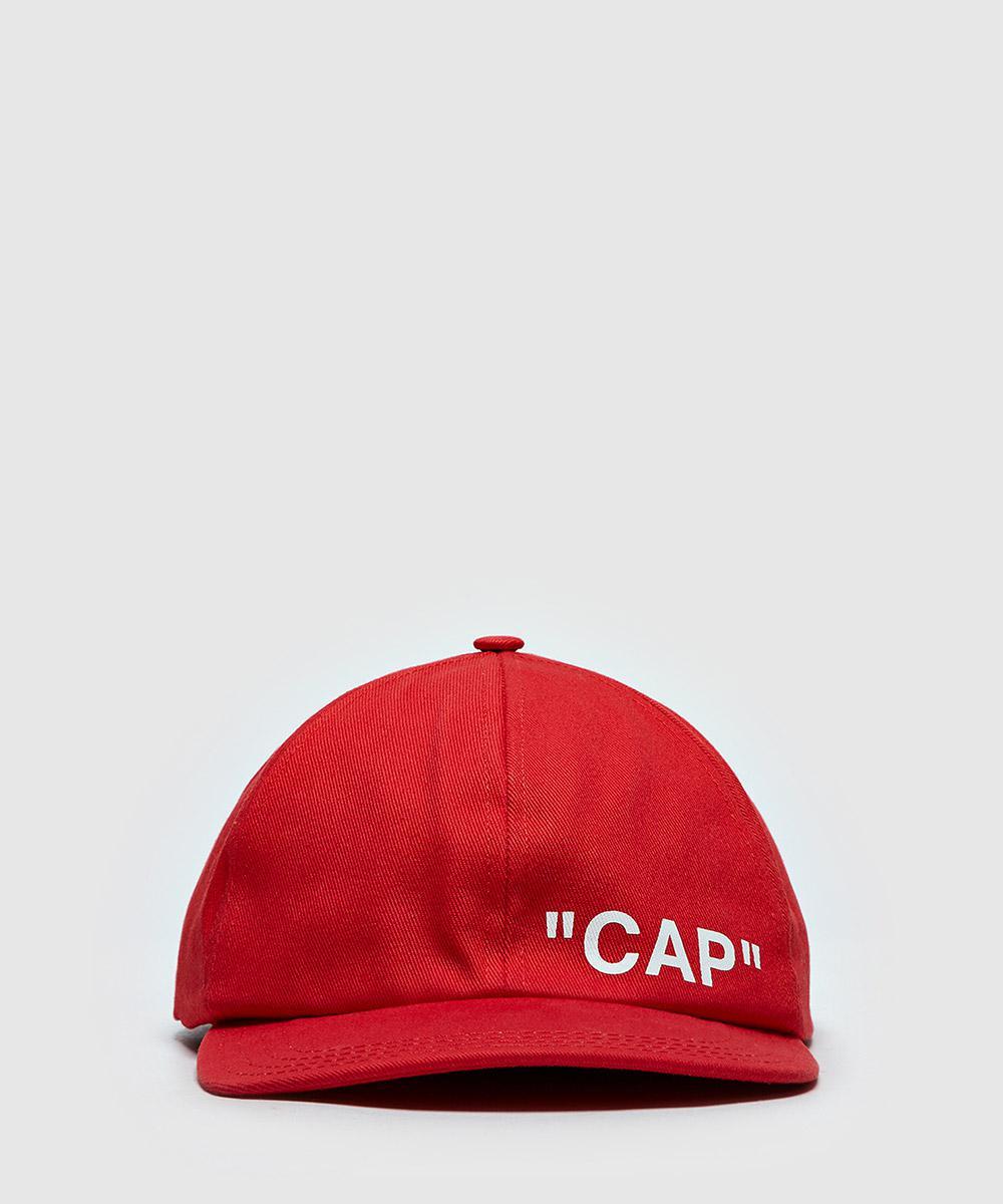 3f0d3e0e2d5 Lyst - Off-White c o Virgil Abloh Quote Baseball Cap in Red for Men ...