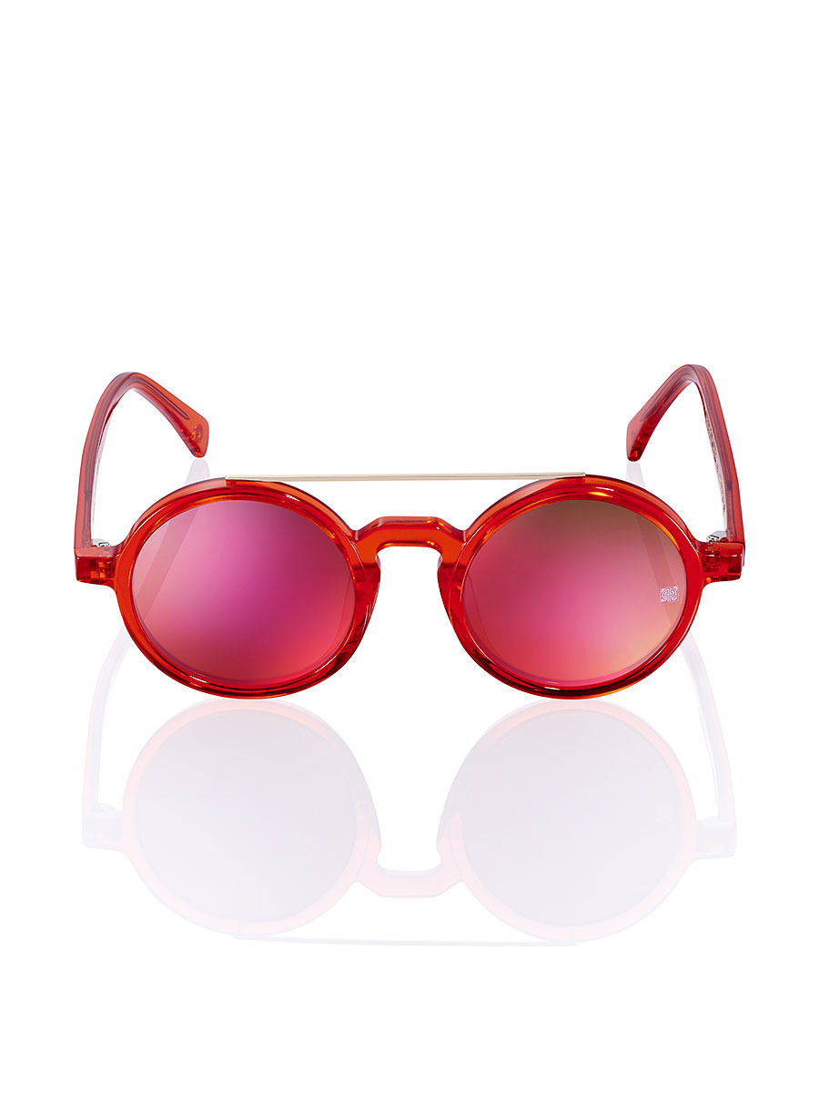 55f15a1e8bb Lyst - Shanghai Tang Retro Chinese  crazy Rouge  Sunglasses in Red