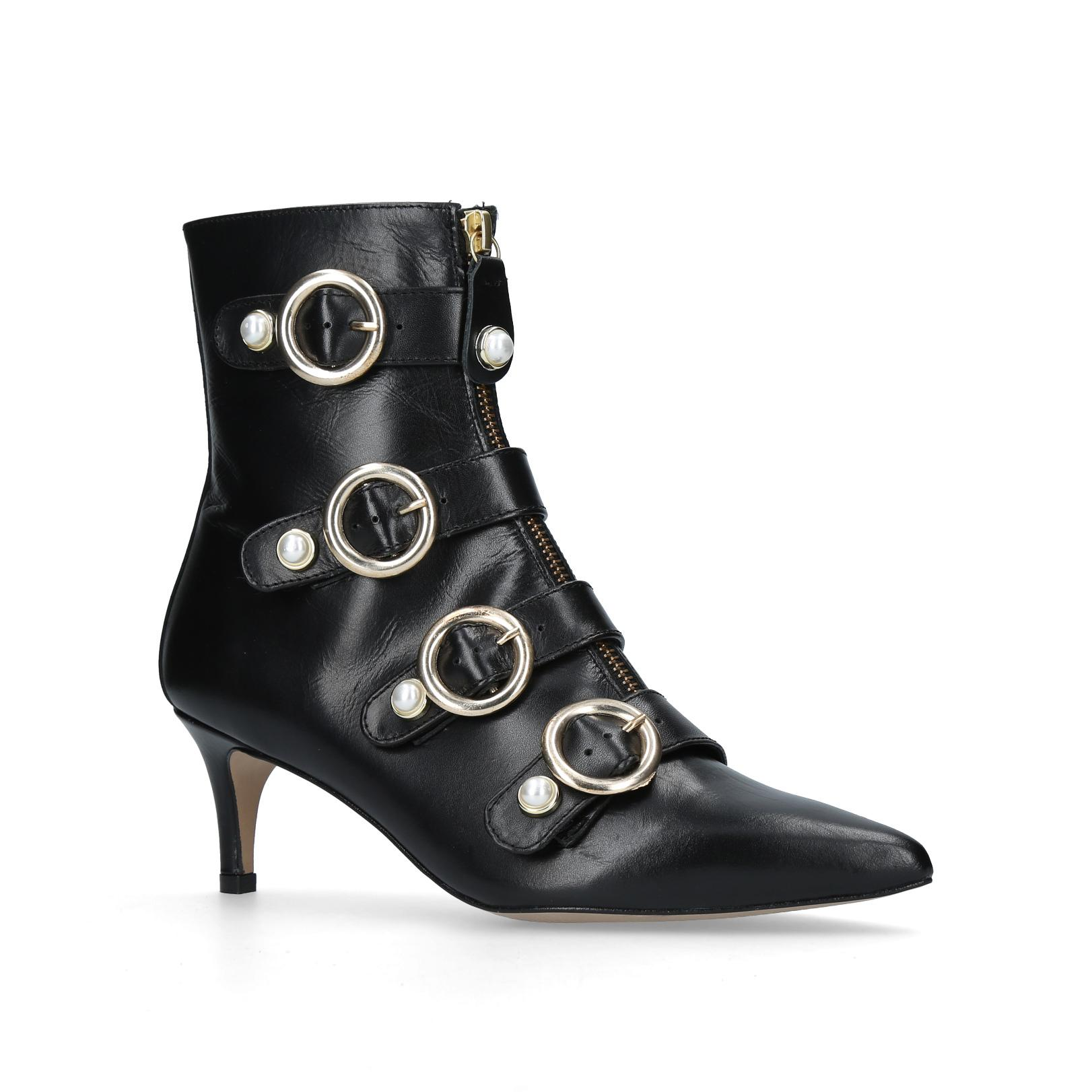 d9ed47f18be2 Carvela Kurt Geiger. Women s Black Sparky Pearl Detail Leather Kitten Heel  Ankle Boots