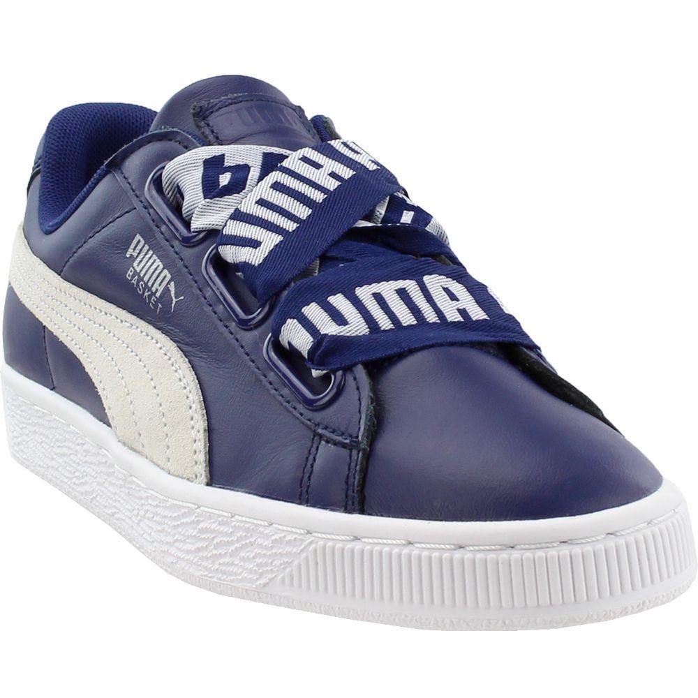best authentic 4f1d3 bcd76 Women's Blue Basket Heart De Sneakers