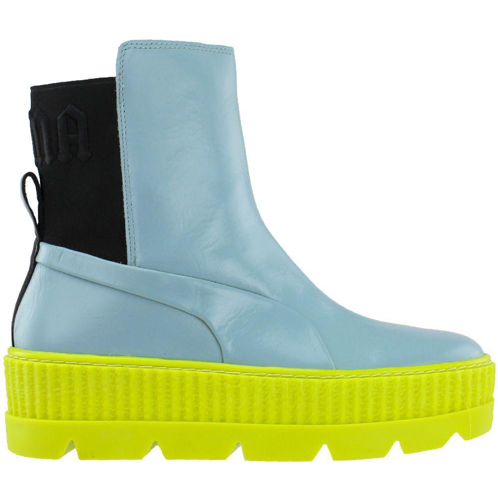 a992e32ac88b PUMA - Blue Fenty By Rihanna Chelsea Sneaker Boot - Lyst. View fullscreen