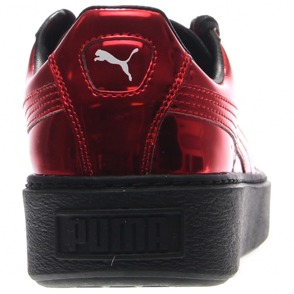 031c1497f39fc4 PUMA - Red Basket Creeper Metallic - Lyst. View fullscreen
