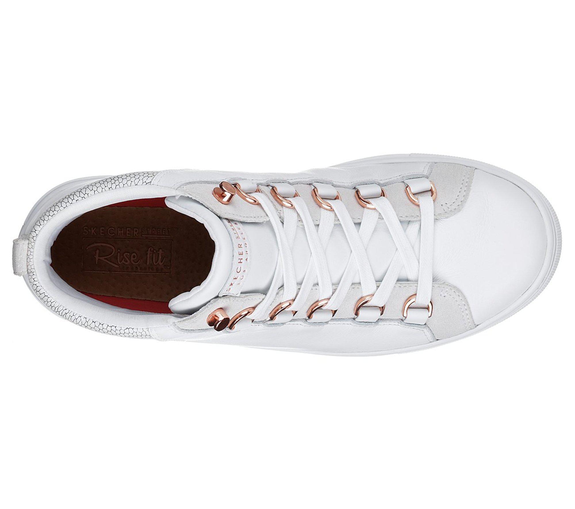 784eb639b6a0 Lyst - Skechers Side Street - Core-set Hi in White