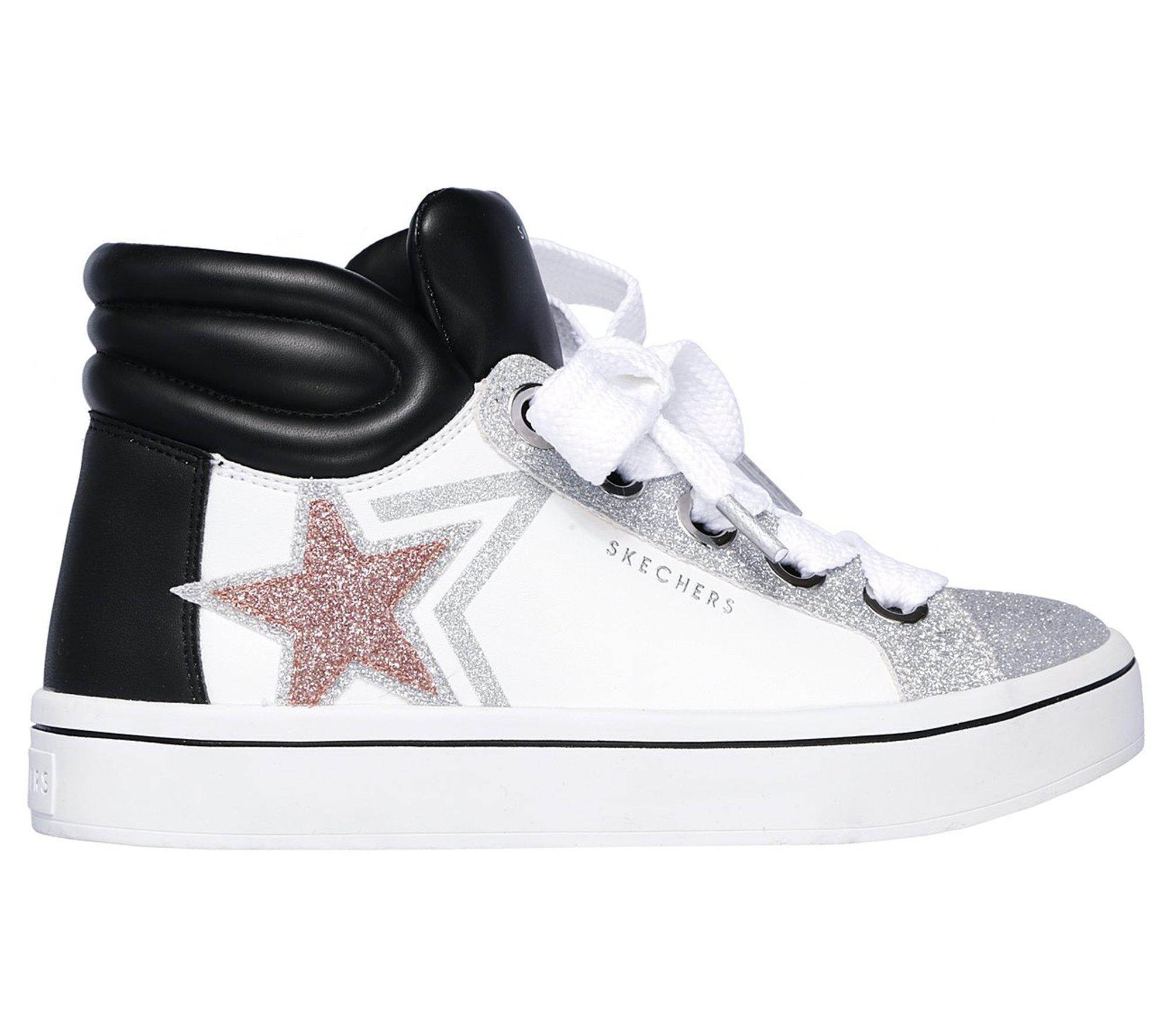 Skechers White Hi lites Star Stunner Low Lyst