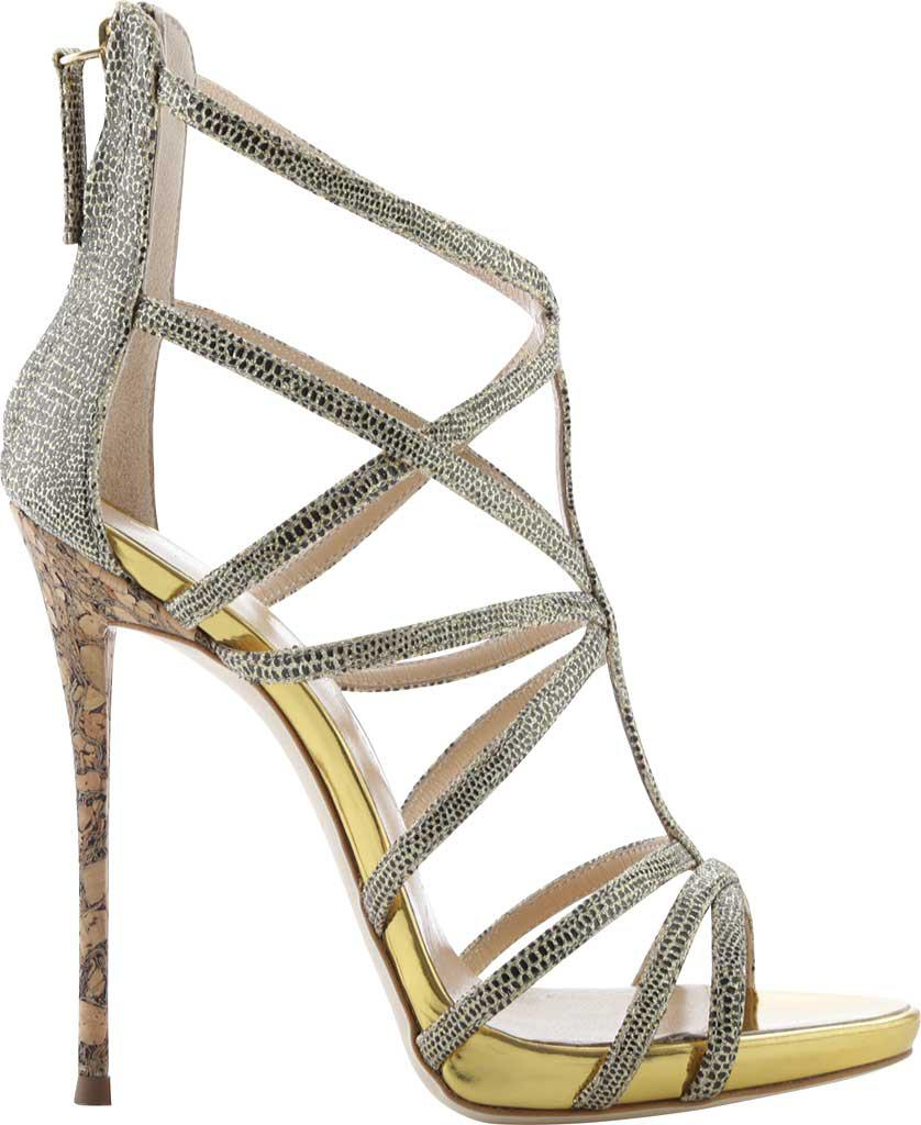 6248b2e58 Giuseppe Zanotti. Women s Metallic Coline Snakeskin-embossed Leather  Strappy Sandal
