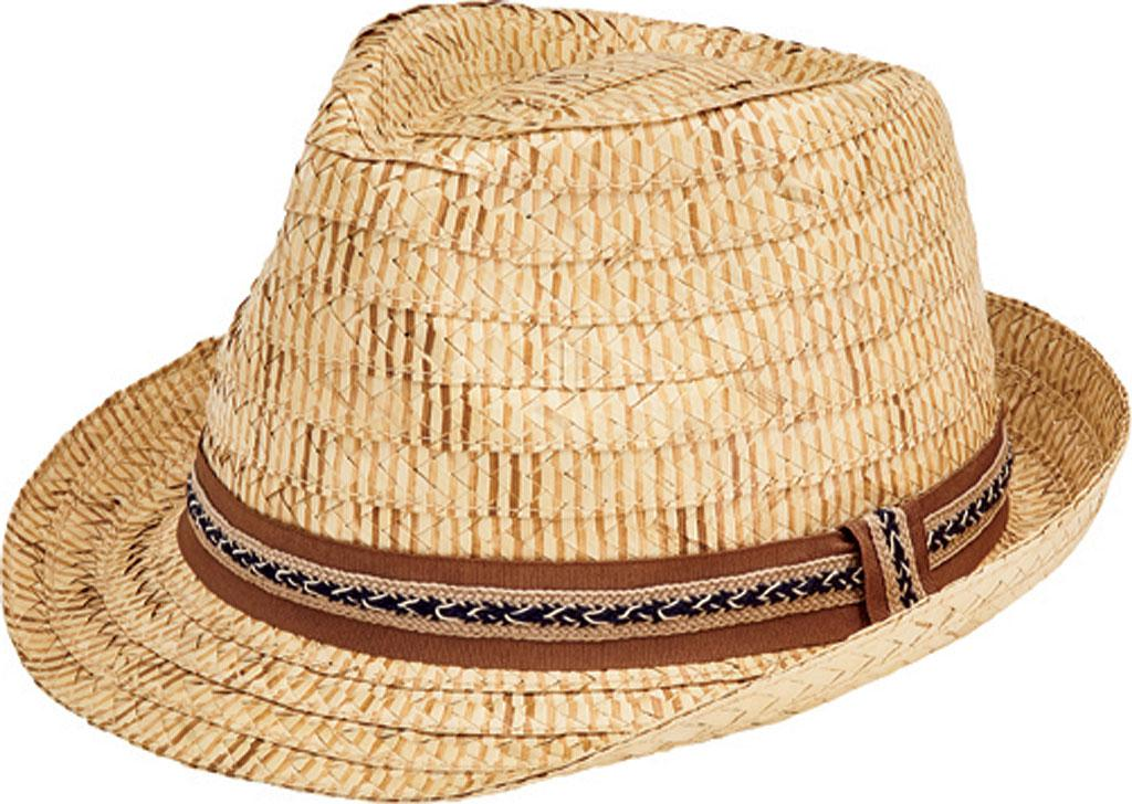 San Diego Hat Company. Men s Natural Kwai Braided Straw Fedora Rsf1001 ba466502bd59
