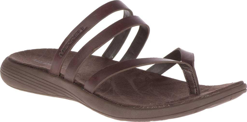 5192acc06419 Lyst - Merrell Duskair Seaway Post Leather Thong Sandal in Brown ...