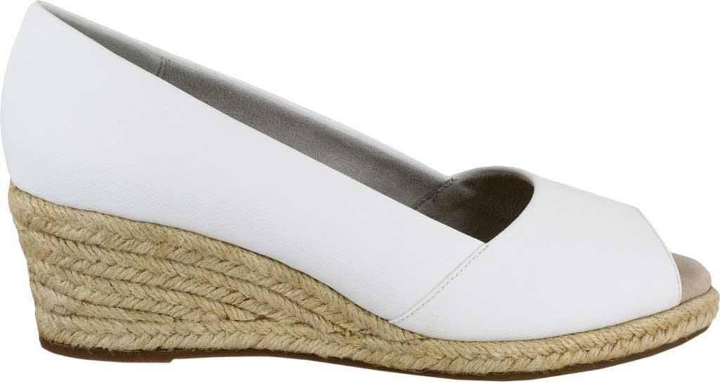 760338bc01df Lyst - Easy Street Monique Espadrille Open Toe Pump in White