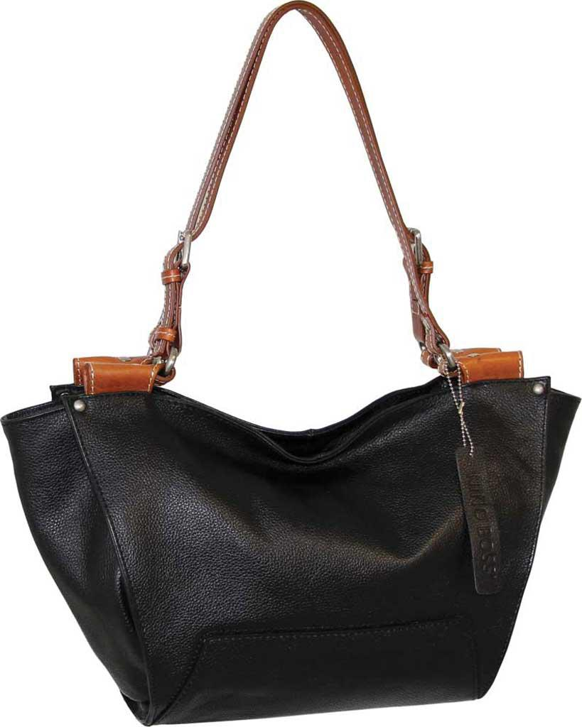 Lyst - Nino Bossi Lilly Leather Satchel in Black 518765c763caa