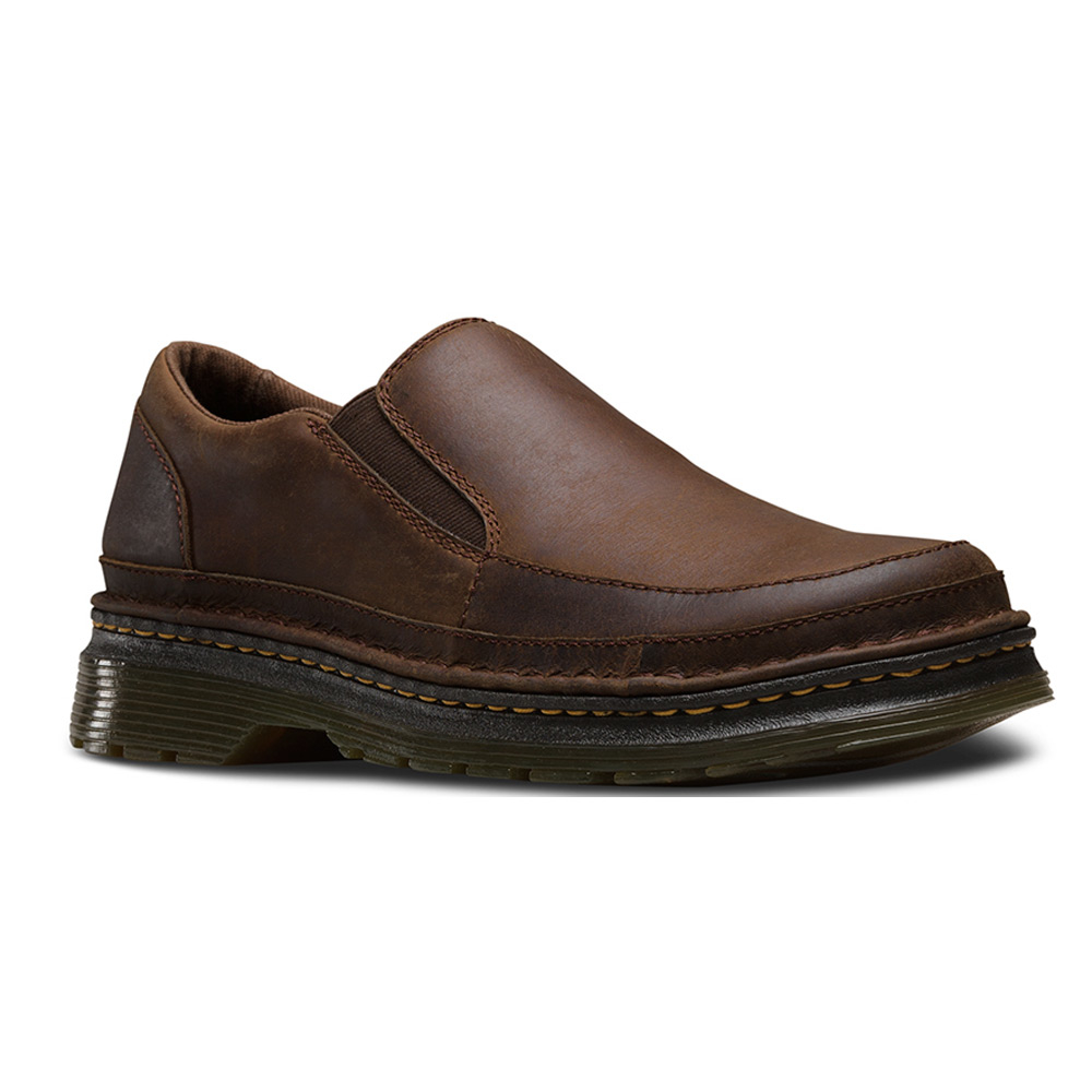 dr martens hickmire slip on shoe in brown for lyst