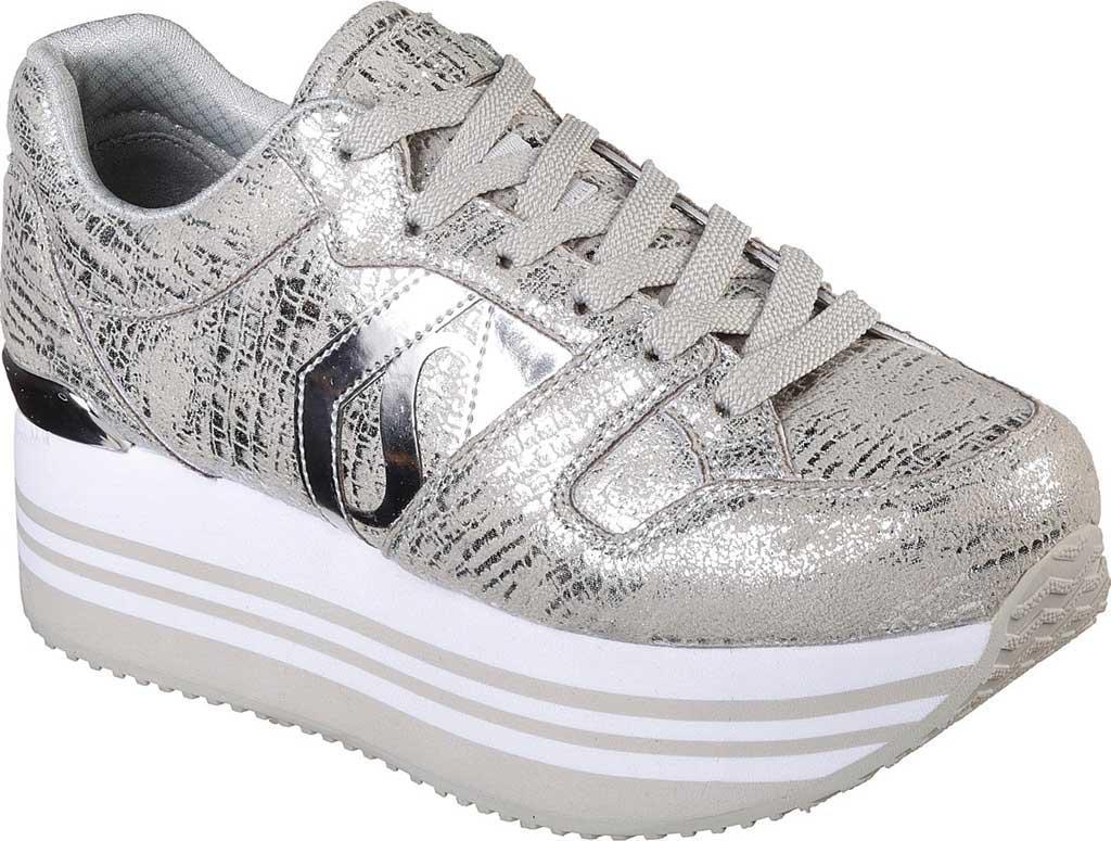 3adce2bbfa Skechers Highrise Shine High Platform Sneaker in Metallic - Lyst