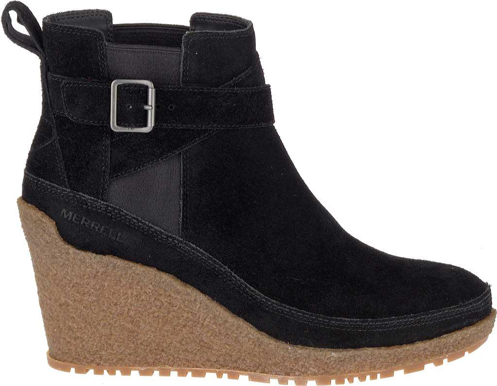bf6a188e815 Lyst - Merrell Tremblant Wedge Mid Ankle Boot in Black