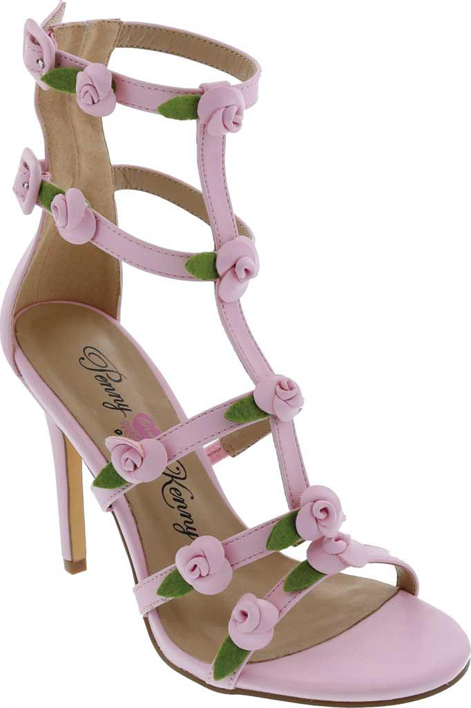 Penny Loves Kenny. Women's Pink Dabble Cage Sandal