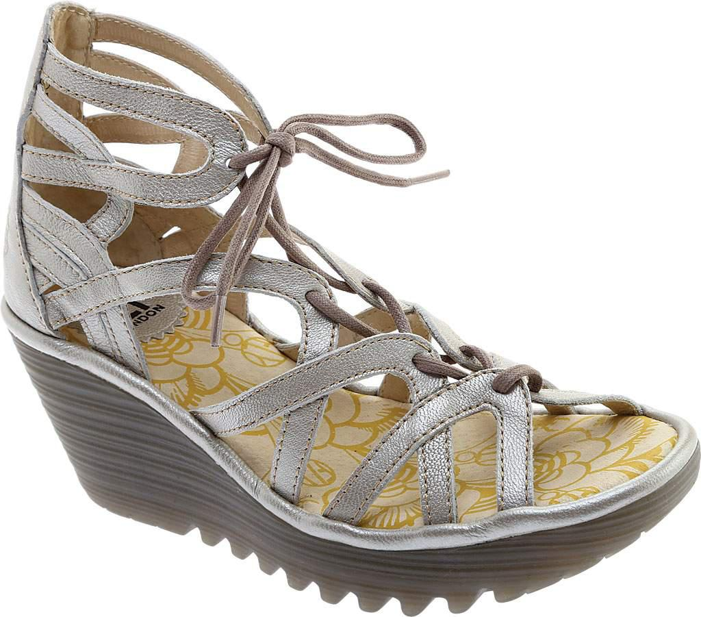 FLY London Yuke663Fly Lace Up Wedge Sandal (Women's) 6CdLy6J