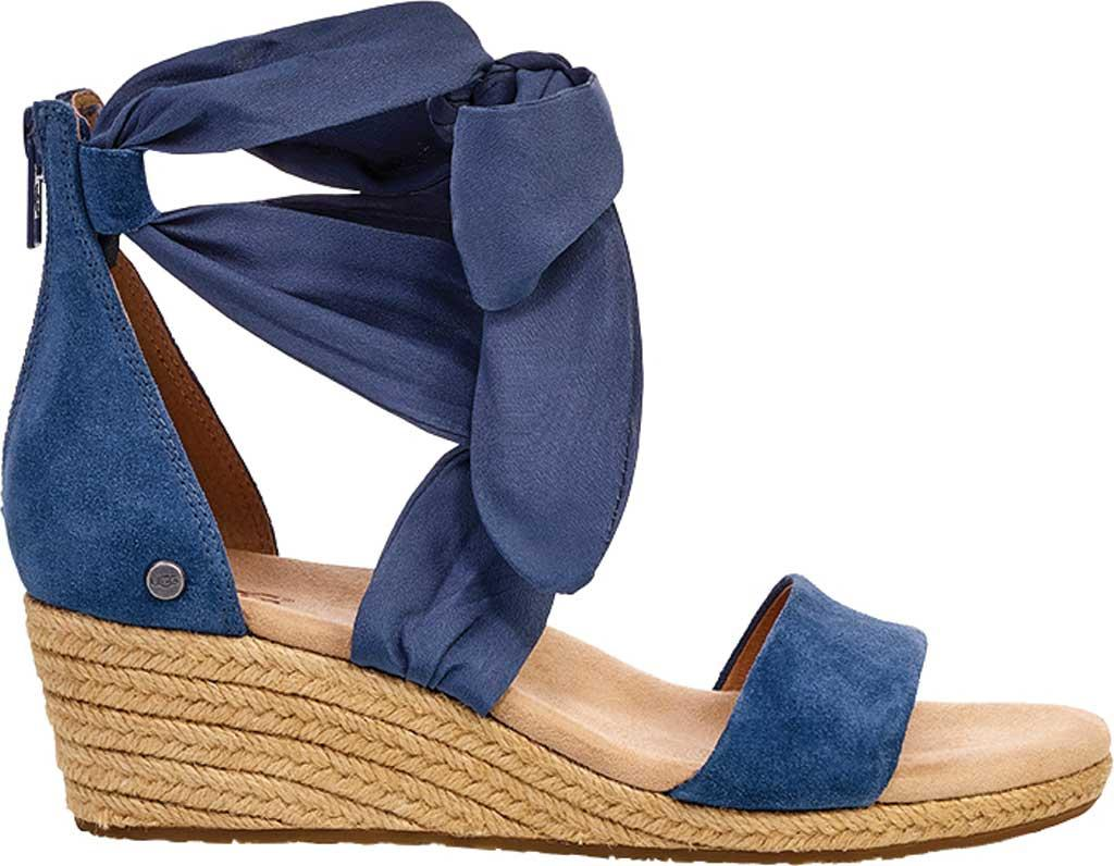8aa948d5da6 Lyst - UGG Trina Wedge Sandal in Blue