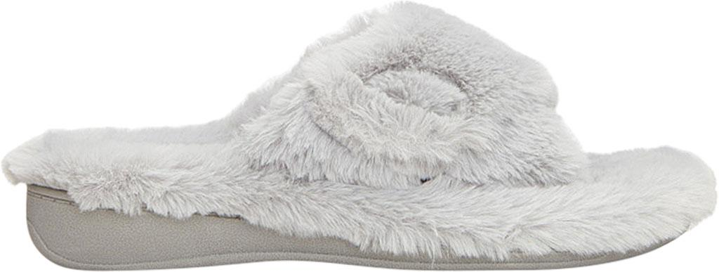 8f1db6f03f7 Vionic - Gray Relax Plush Open Toe Slipper - Lyst. View fullscreen