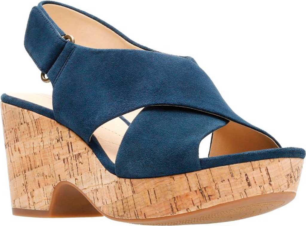 c942c6f9552a Lyst - Clarks Maritsa Lara Platform Sandal in Blue