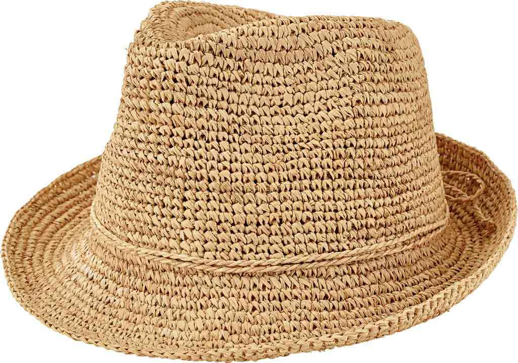 5977700d1c3 Lyst - San Diego Hat Company Crochet Raffia Fedora Rhf6120 in Natural