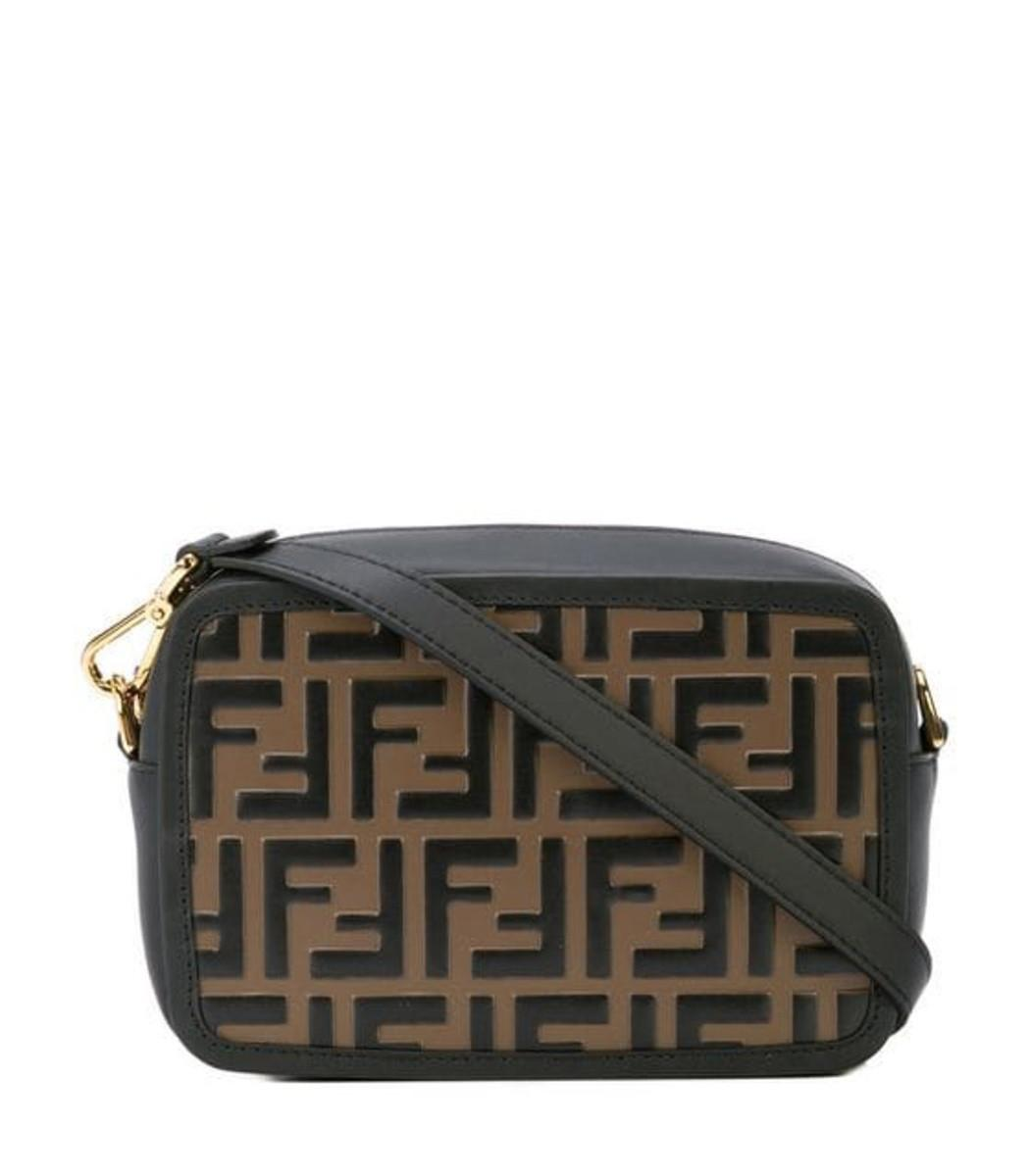 8a434a202dac Lyst - Fendi Brown Ff Mini Bag in Brown