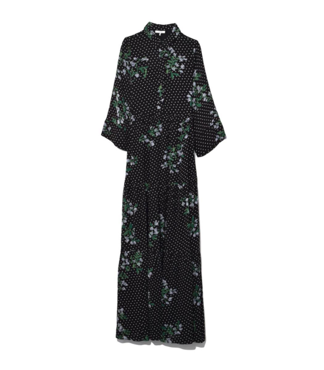 c5d19b7a4d1f Ganni Black Rometty Georgette Dress in Black - Lyst