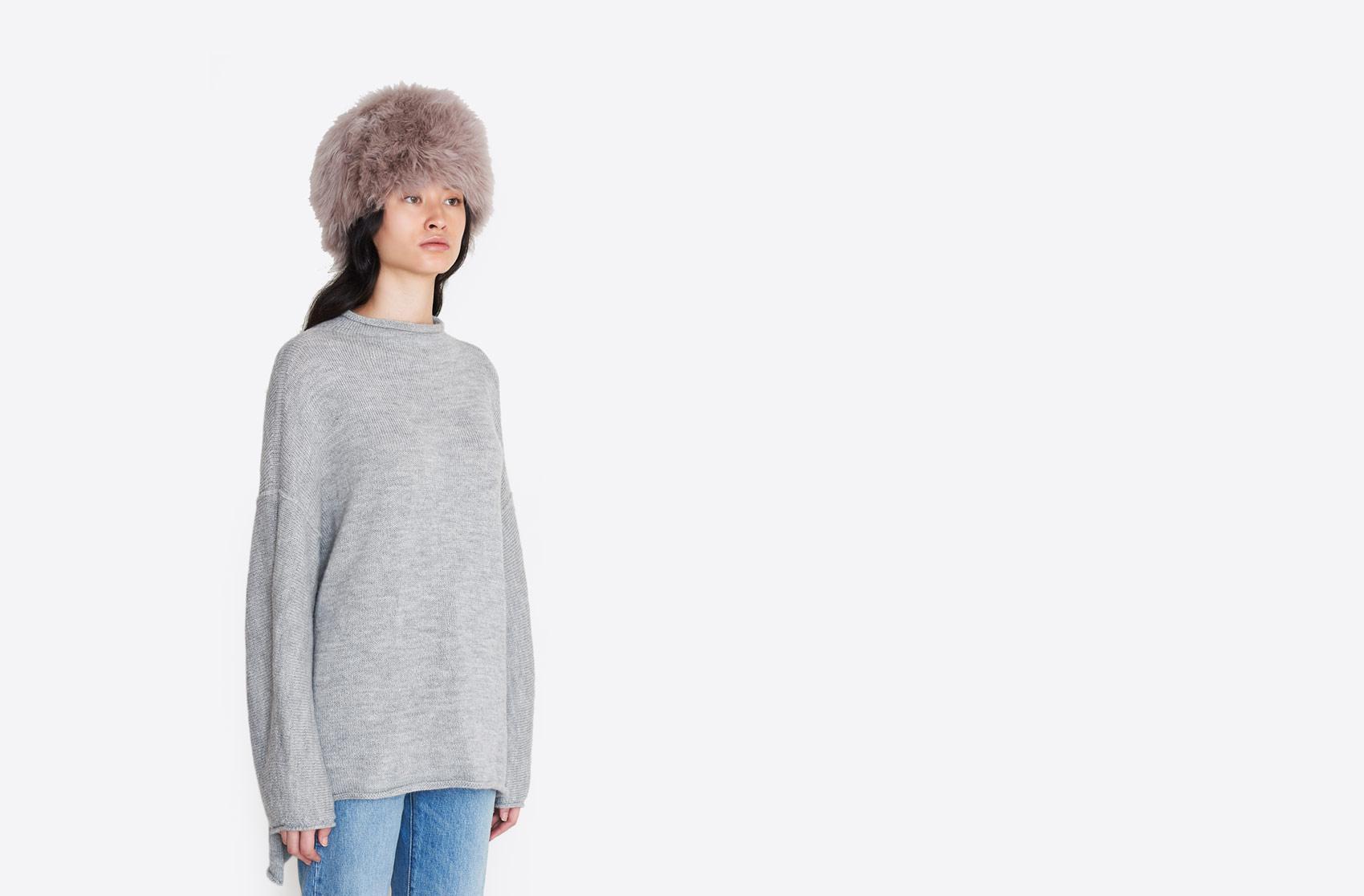 b4a71b866a9 Lyst - No. 6 Baby Alpaca Fur Hat in White