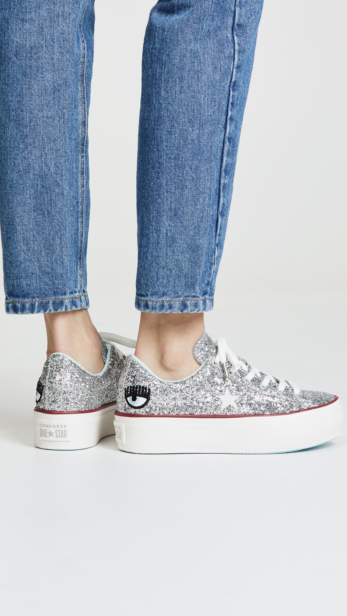 a3bac9df968874 Lyst - Converse X Chiara Ferragni Sneakers in Metallic