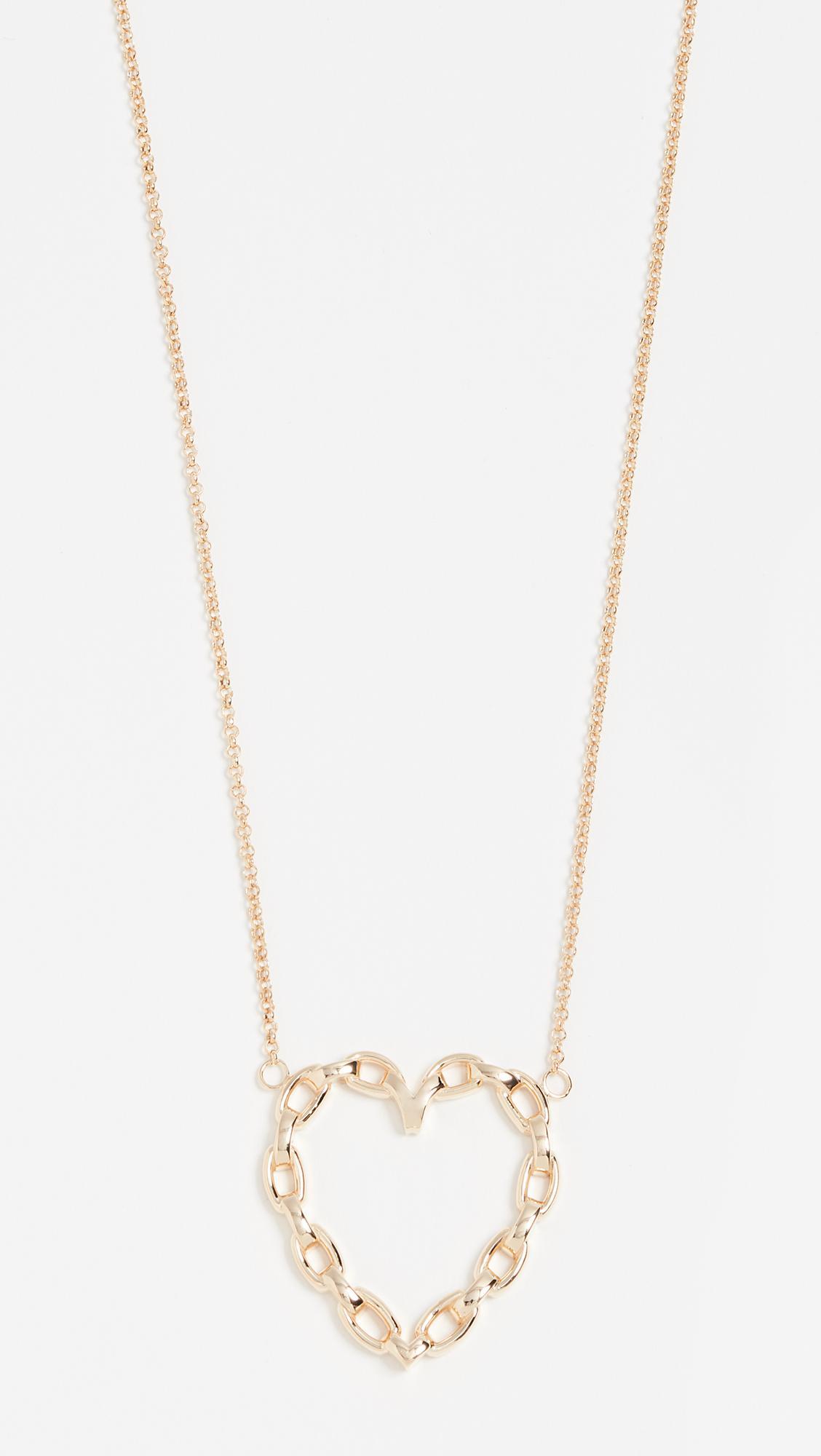 Jennifer Zeuner Margarita Chunky Chain Charm Necklace P3g5d