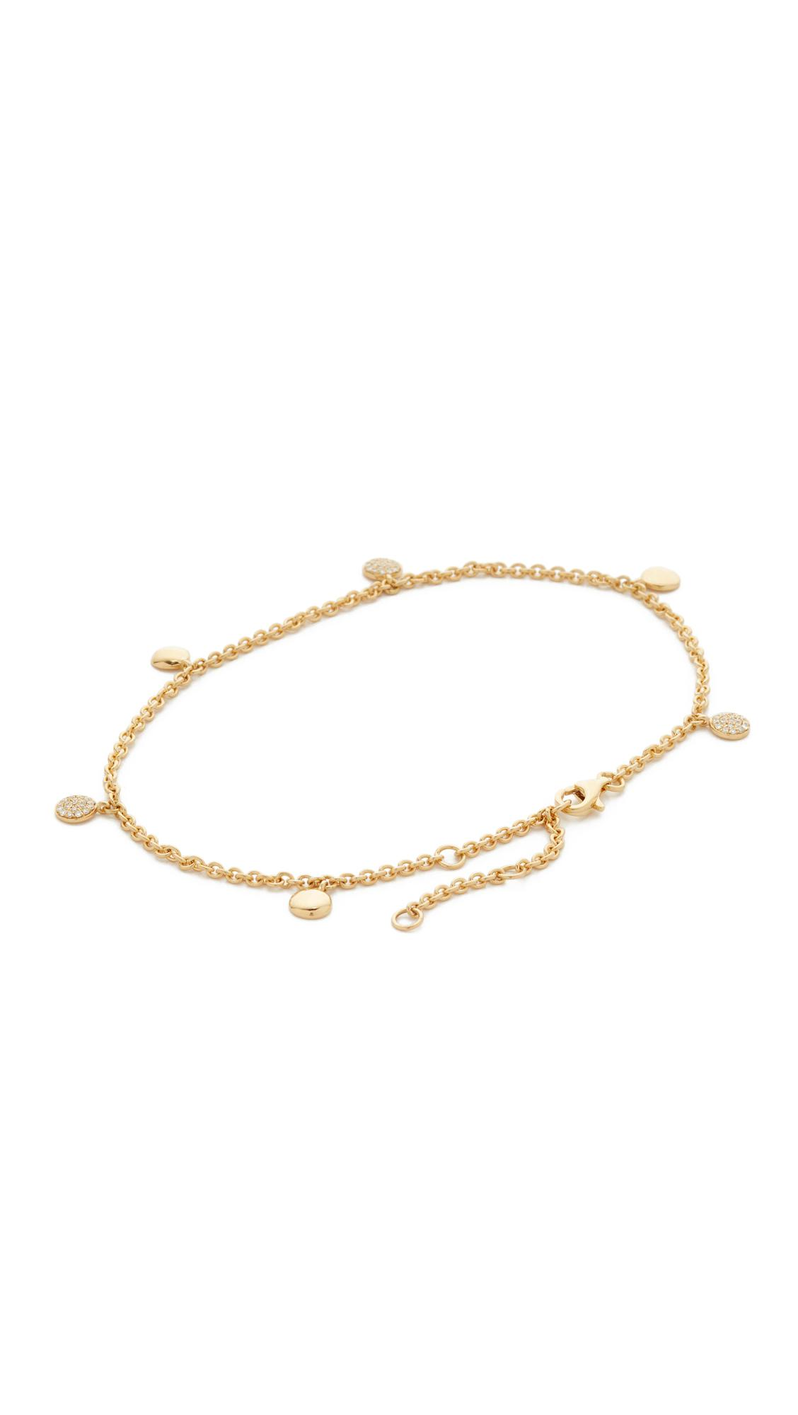 zirconia gold by ankle anklet cubic diamonds bracelet karat anklets page jewels yard or product the archives elle of category