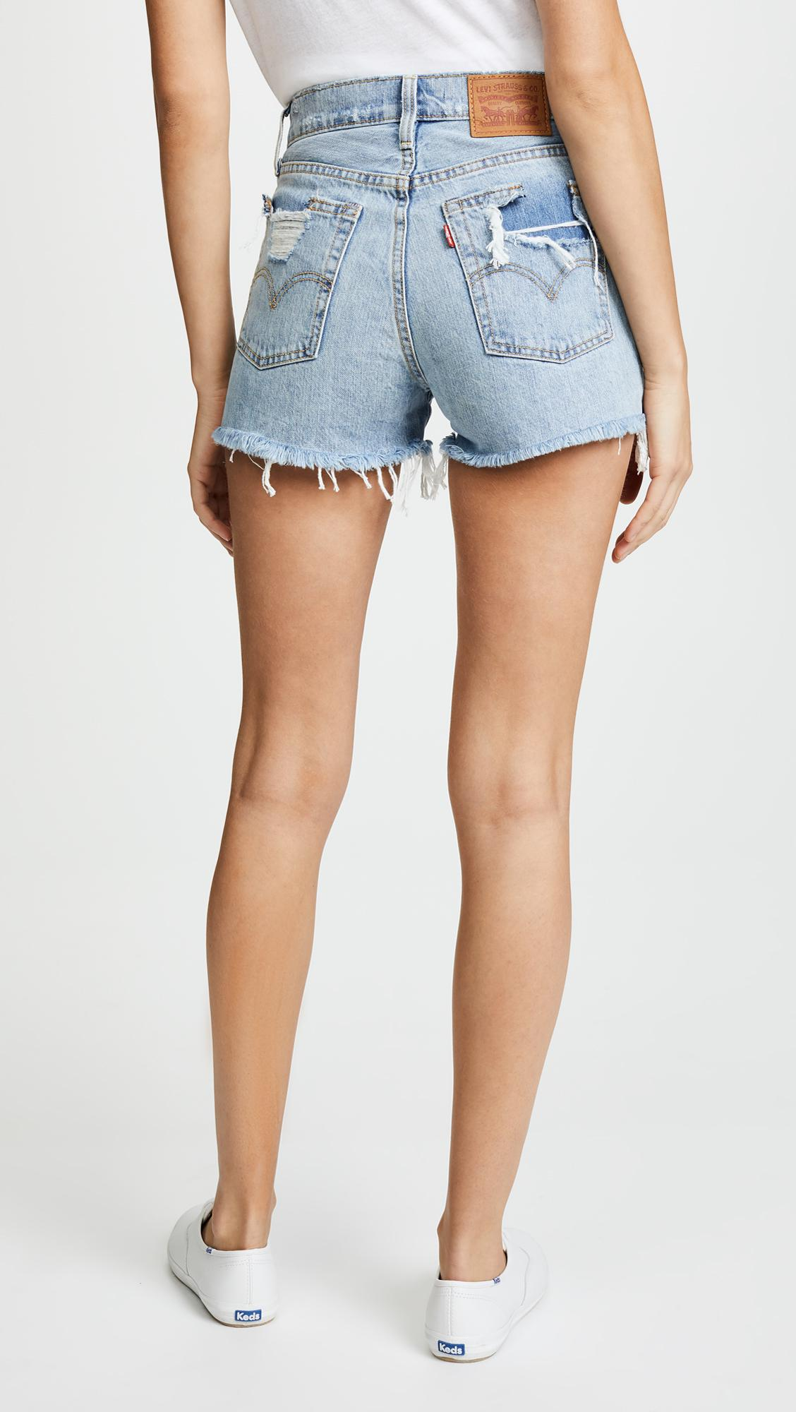 fd83e3d8 Levi's Wedgie Shorts in Blue - Lyst