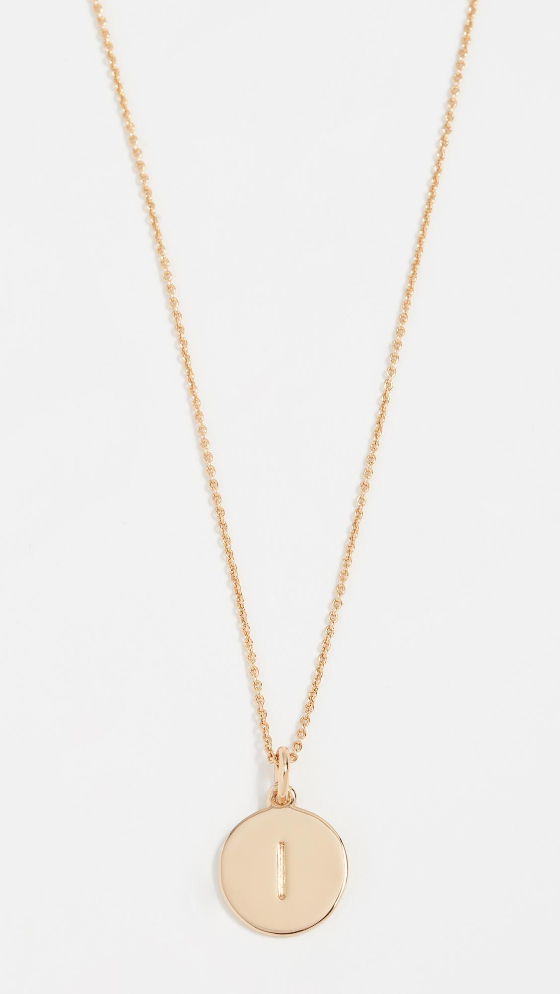 kate spade womens metallic letter pendant necklace
