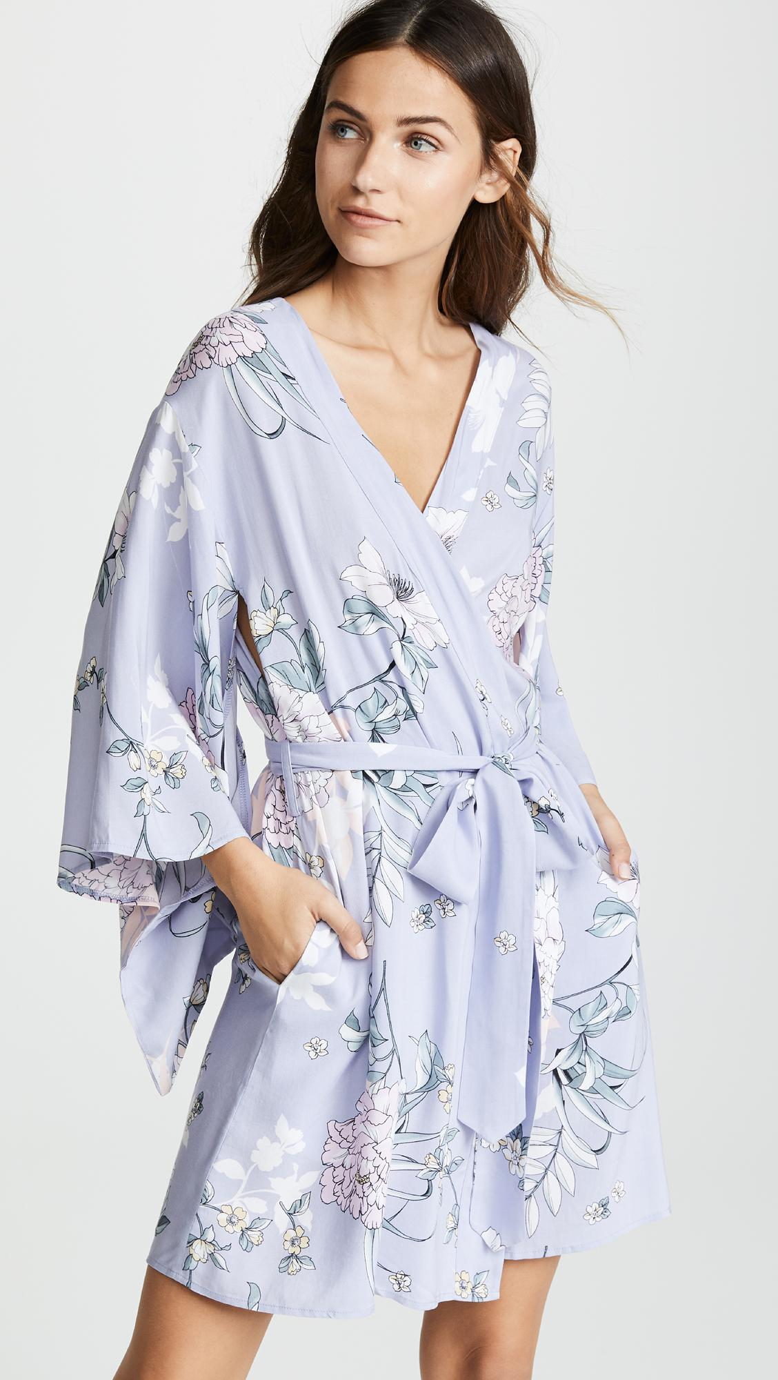 a69677ebc1 Lyst - Yumi Kim Utopia Robe in Blue