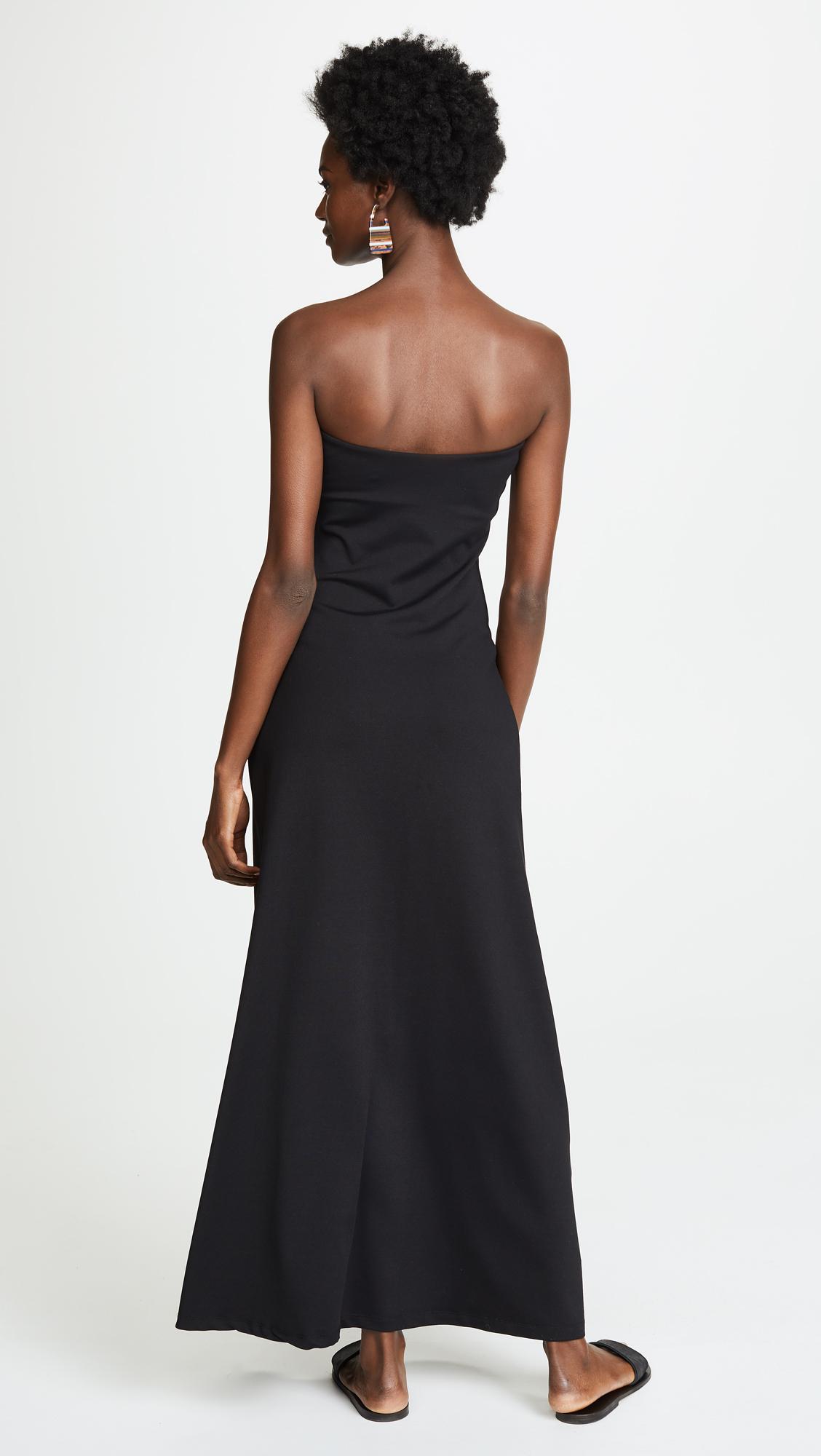 2e3fbc906a39c Susana Monaco - Black Strapless Maxi Dress - Lyst. View fullscreen