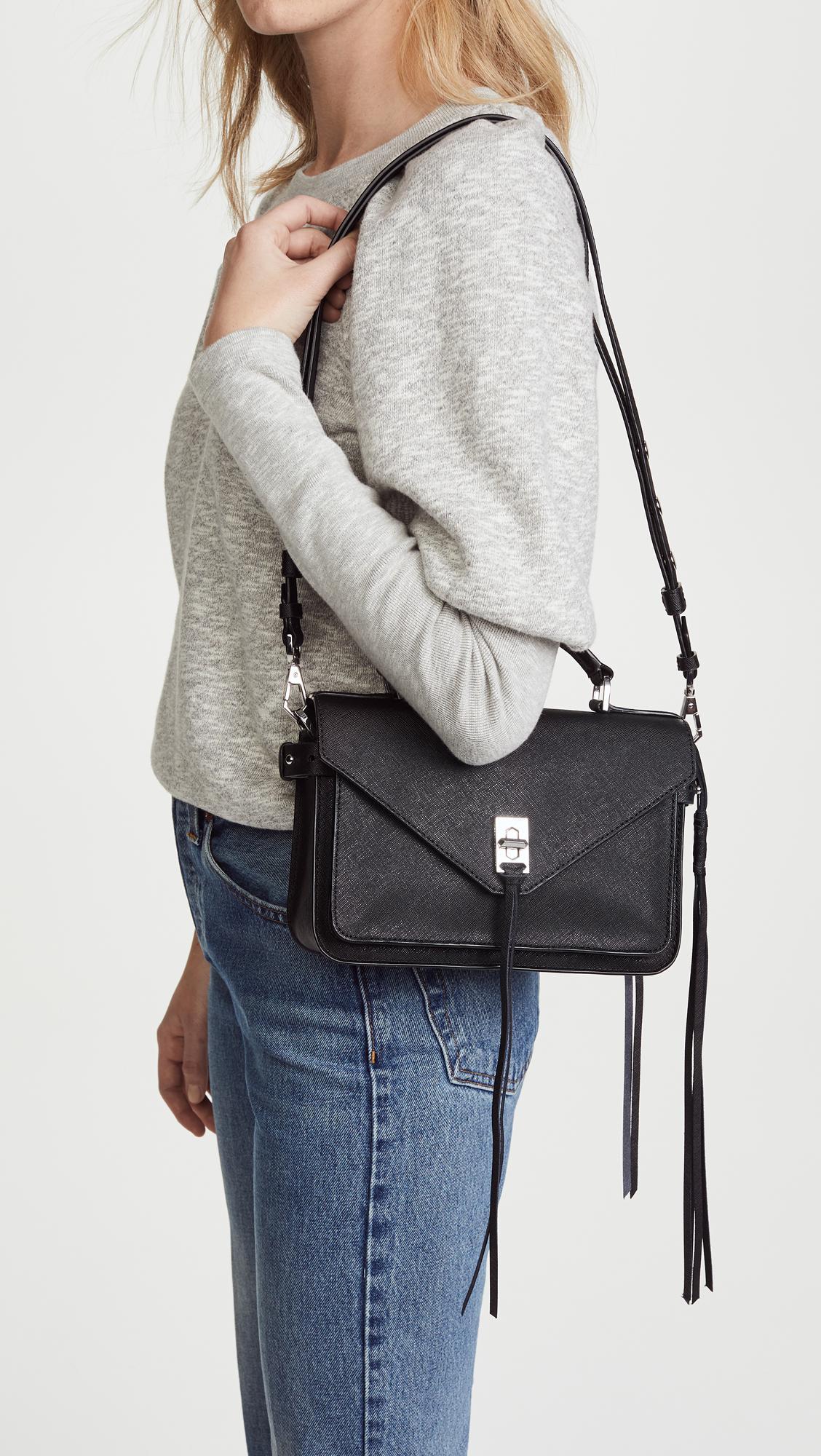 c0ca84432b9c53 Rebecca Minkoff Small Darren Messenger Bag in Black - Lyst